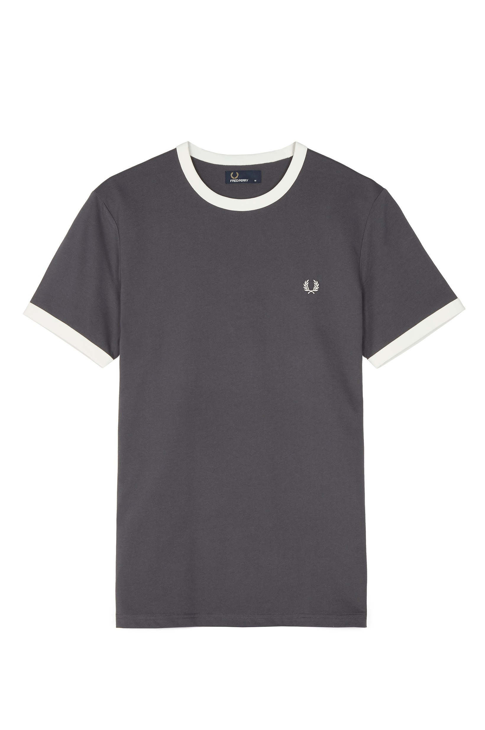 Fred Perry Charcoal Ringer T-Shirt