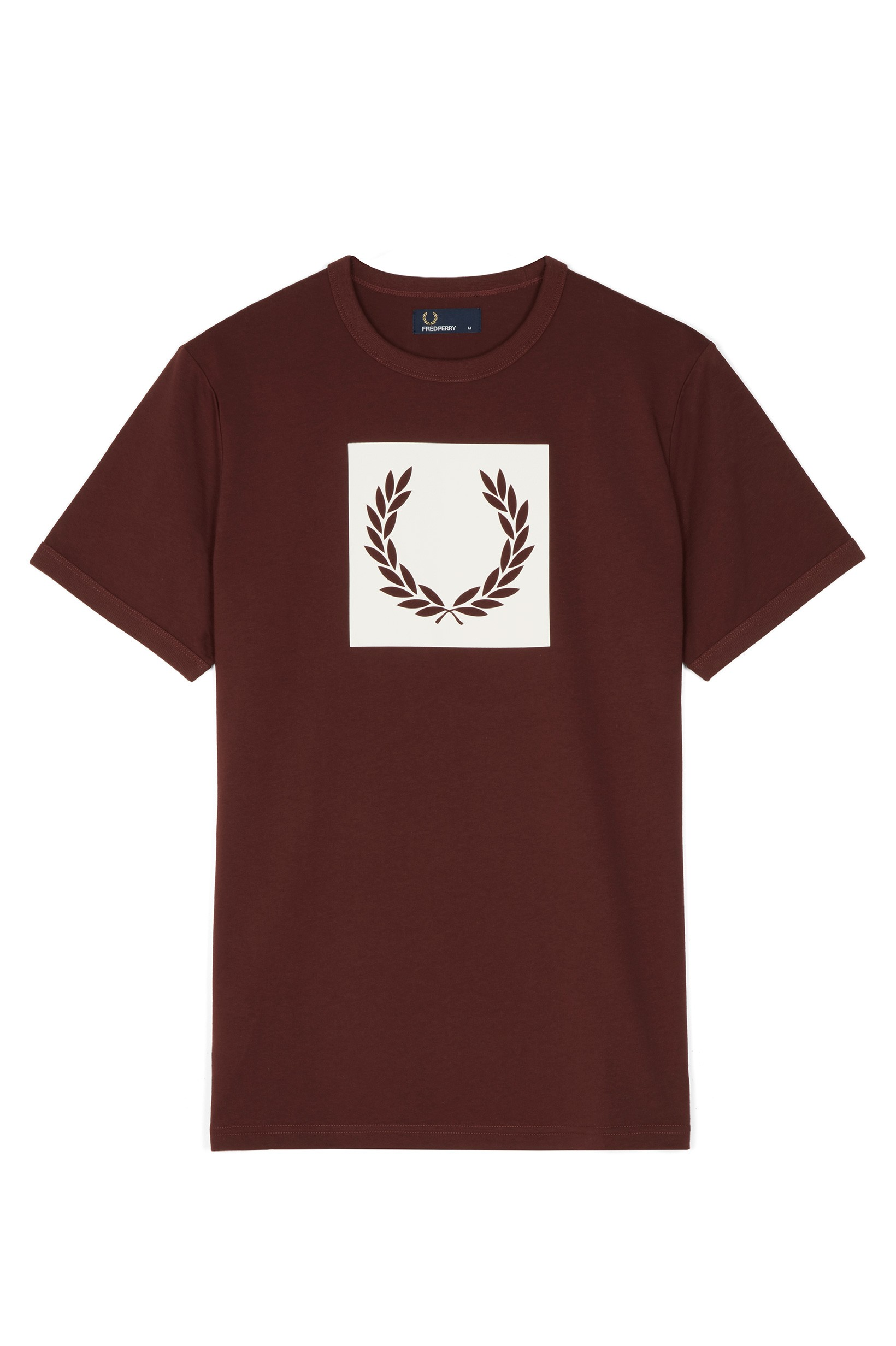 Fred Perry Stadium Red Printed Laurel Wreath T-Shirt