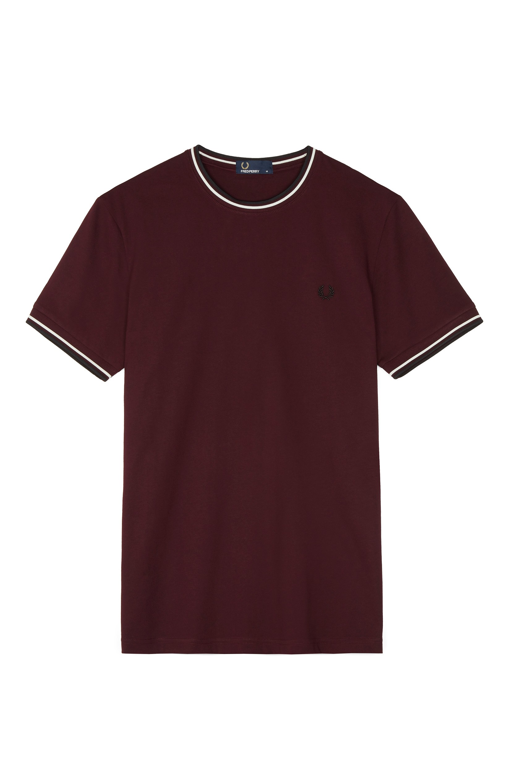 Fred Perry Deep Mahogany Twin Tipped T-Shirt
