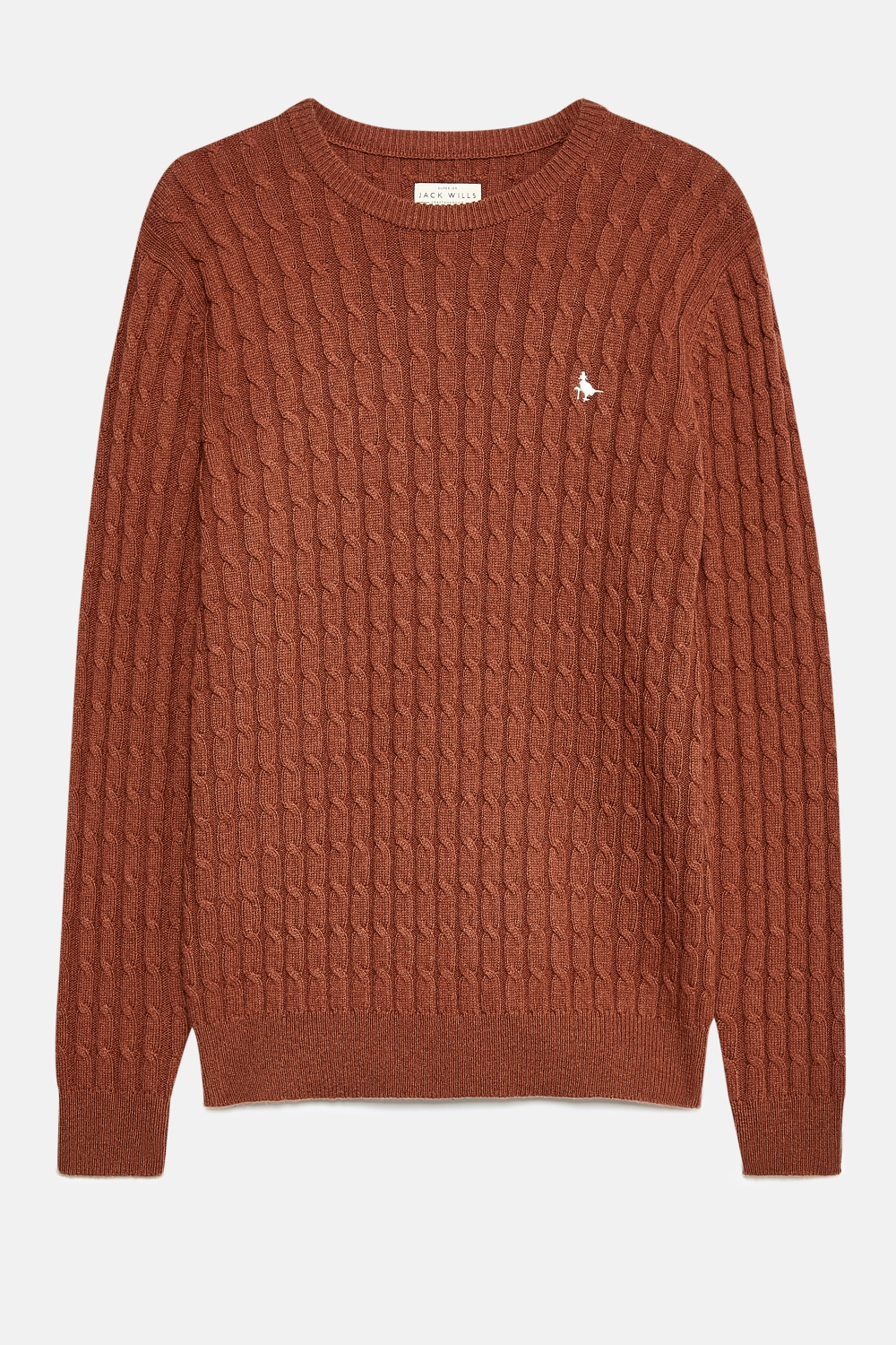 Jack Wills Ginger MARLOW WOOL BLEND CABLE KNIT CREW JUMPER