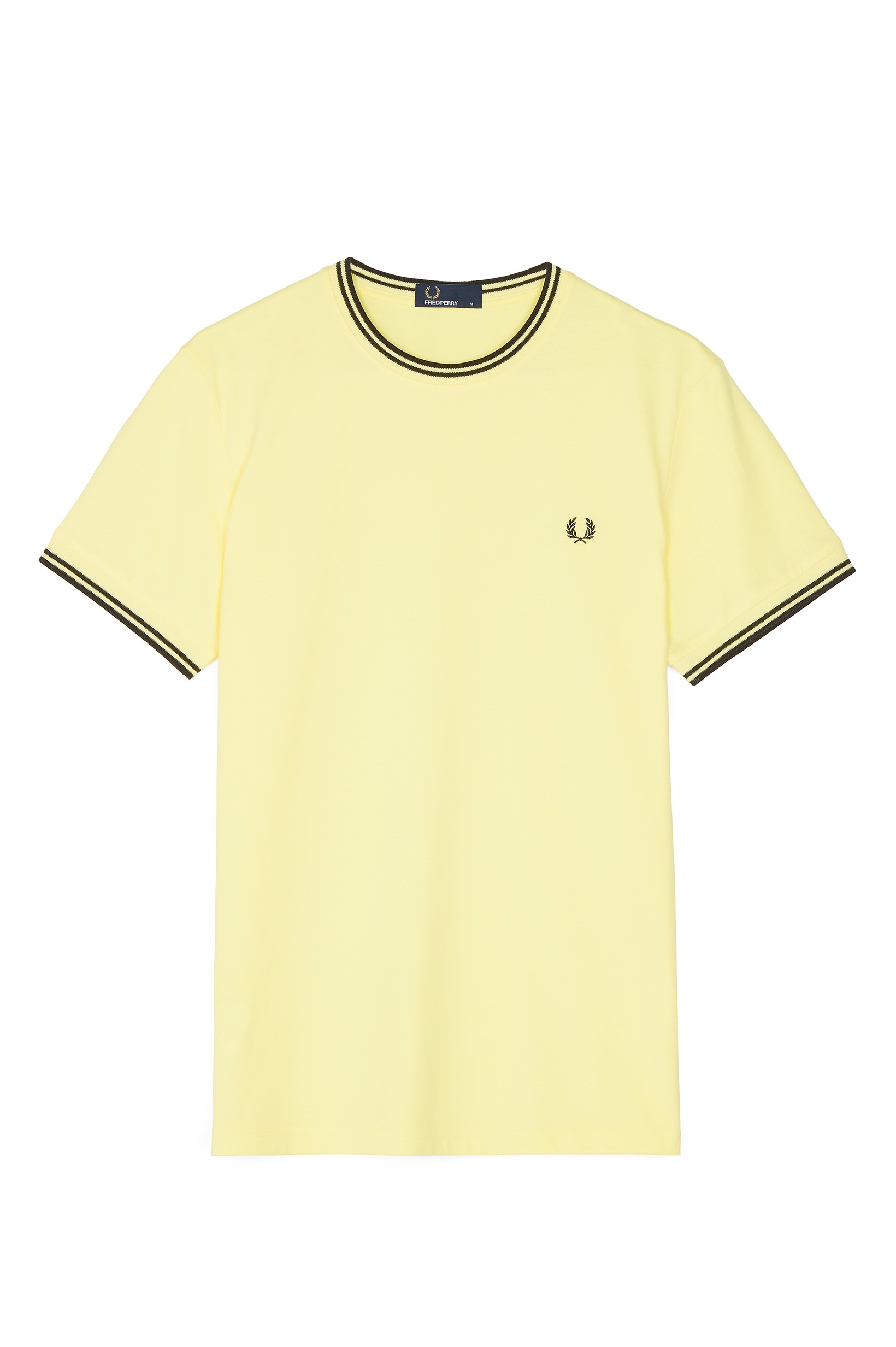 Fred Perry Wax Yellow Twin Tipped T-Shirt