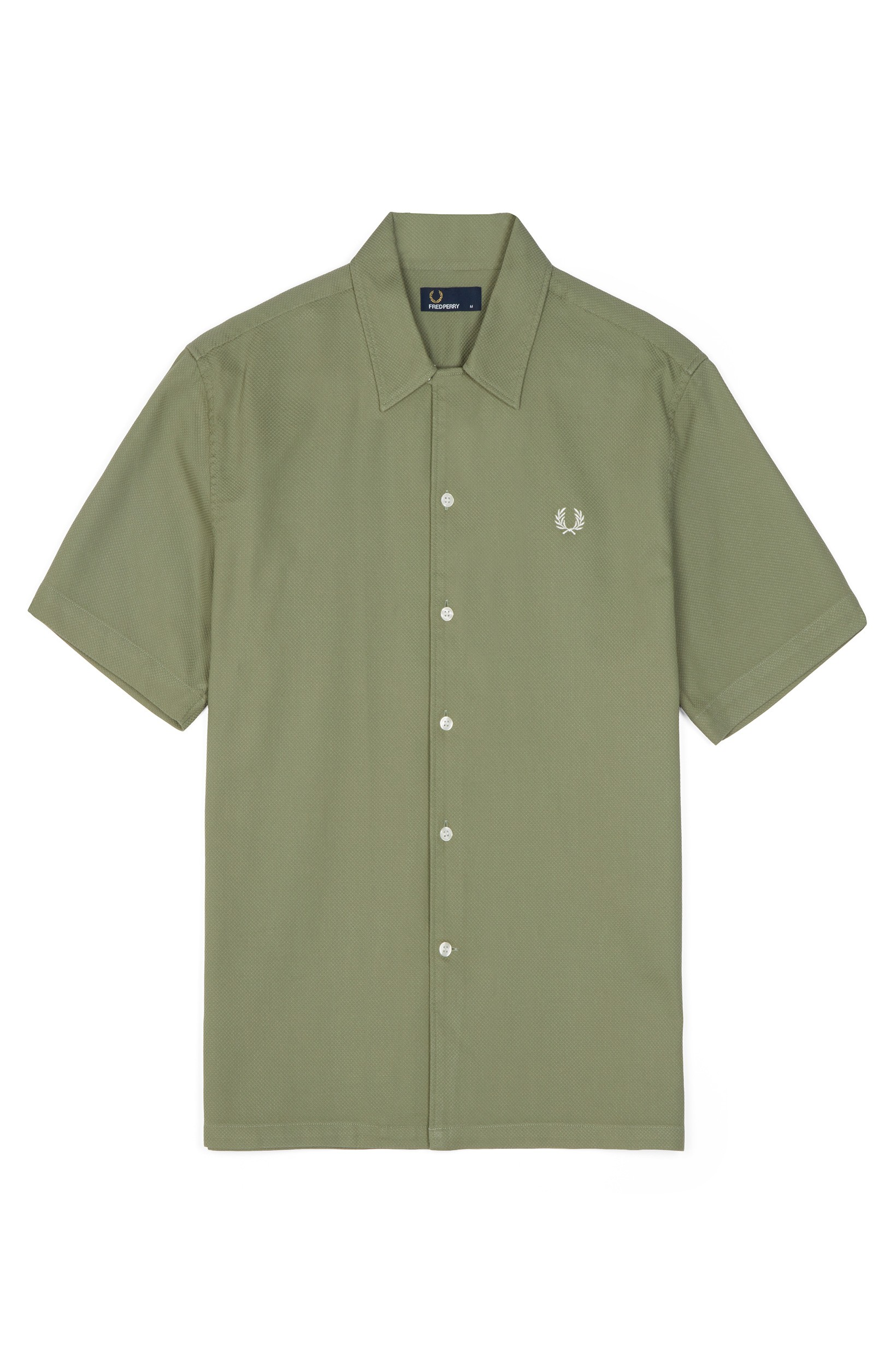 Fred Perry Washing Khaki Woven Piqué Shirt
