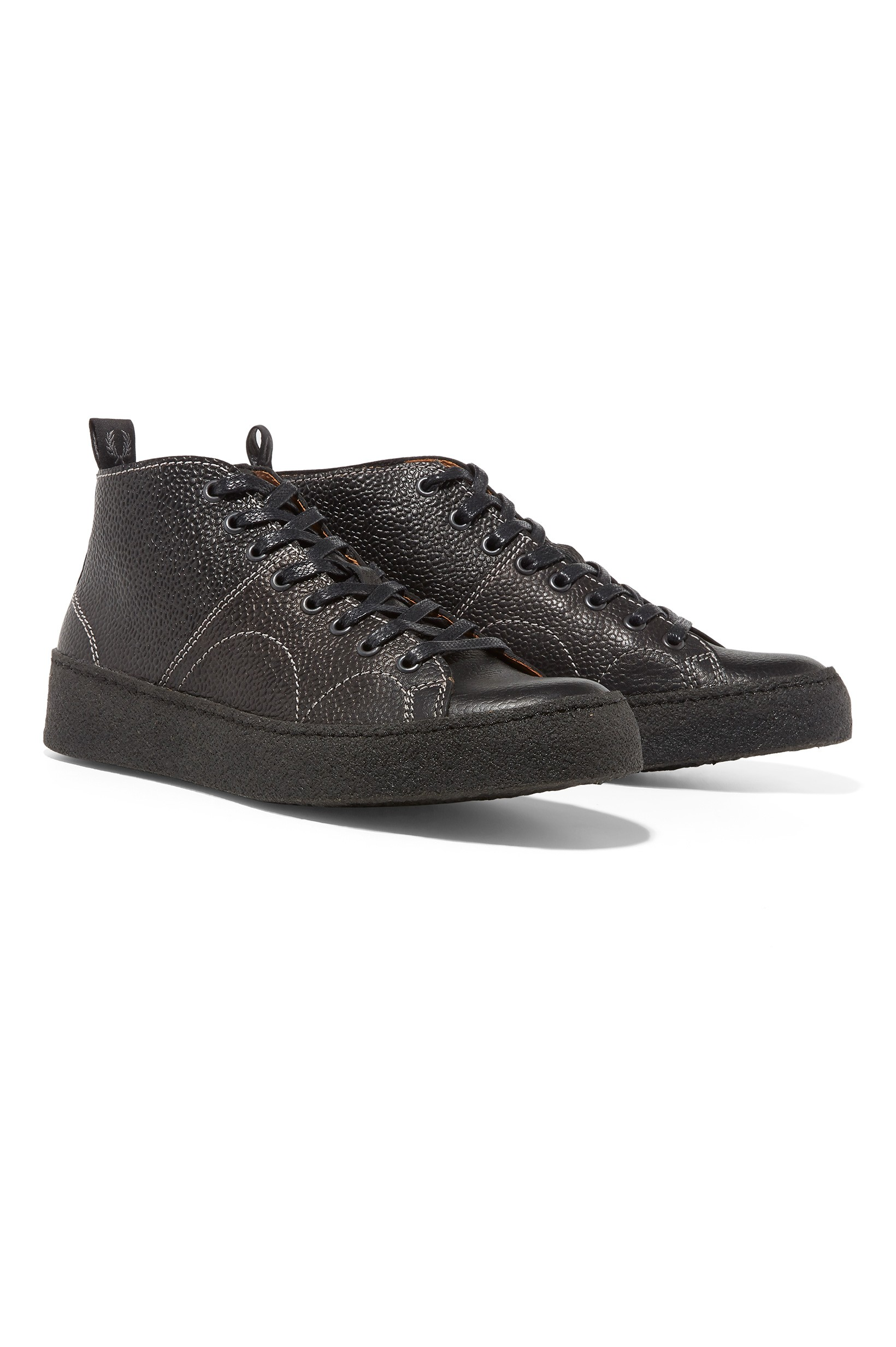 Fred Perry Black X George Cox Creeper Mid Leather
