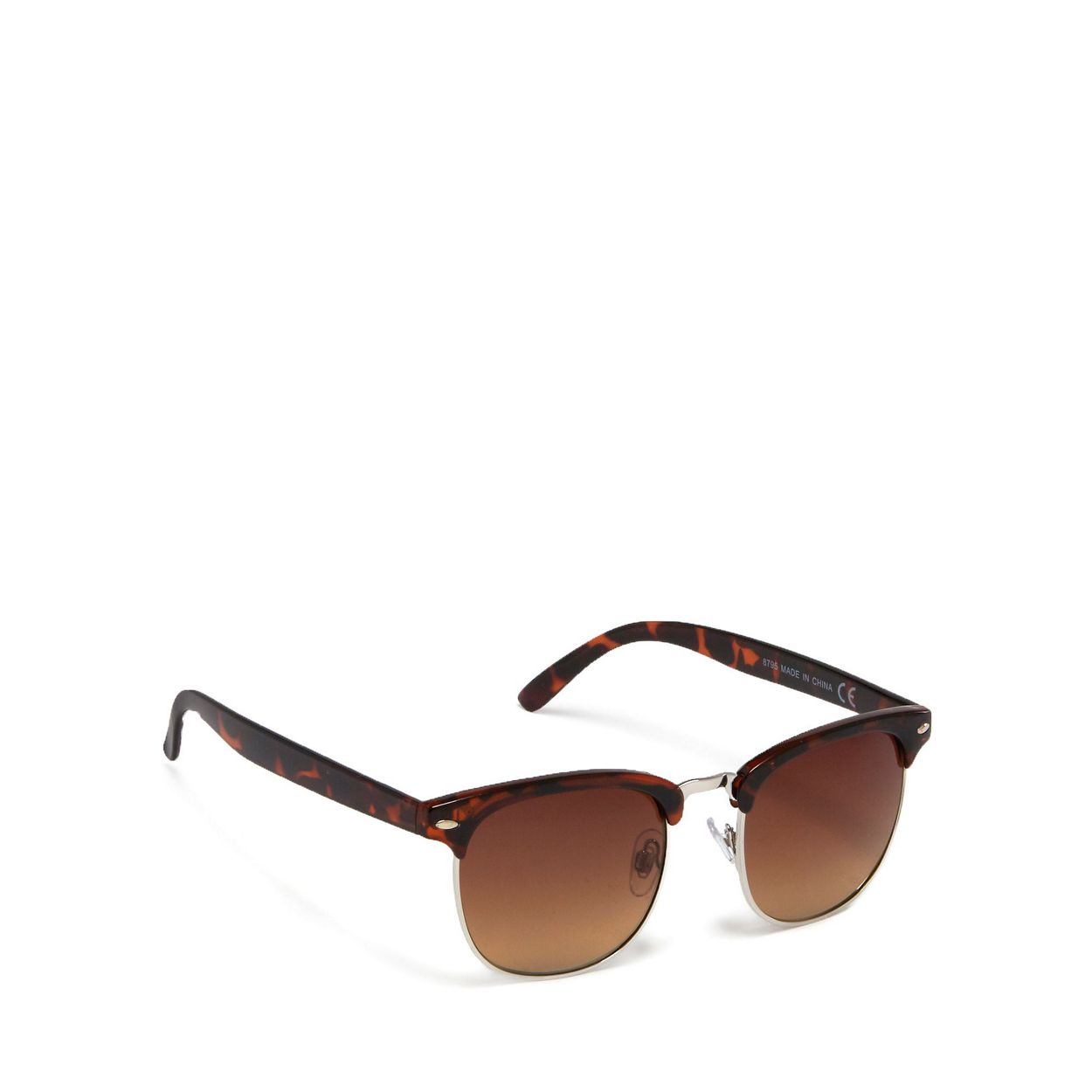 The Collection Brown tortoise shell square retro frame sunglasses