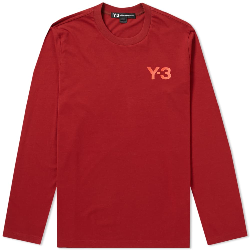 Y-3 Rust Red Long Sleeve Classic Tee