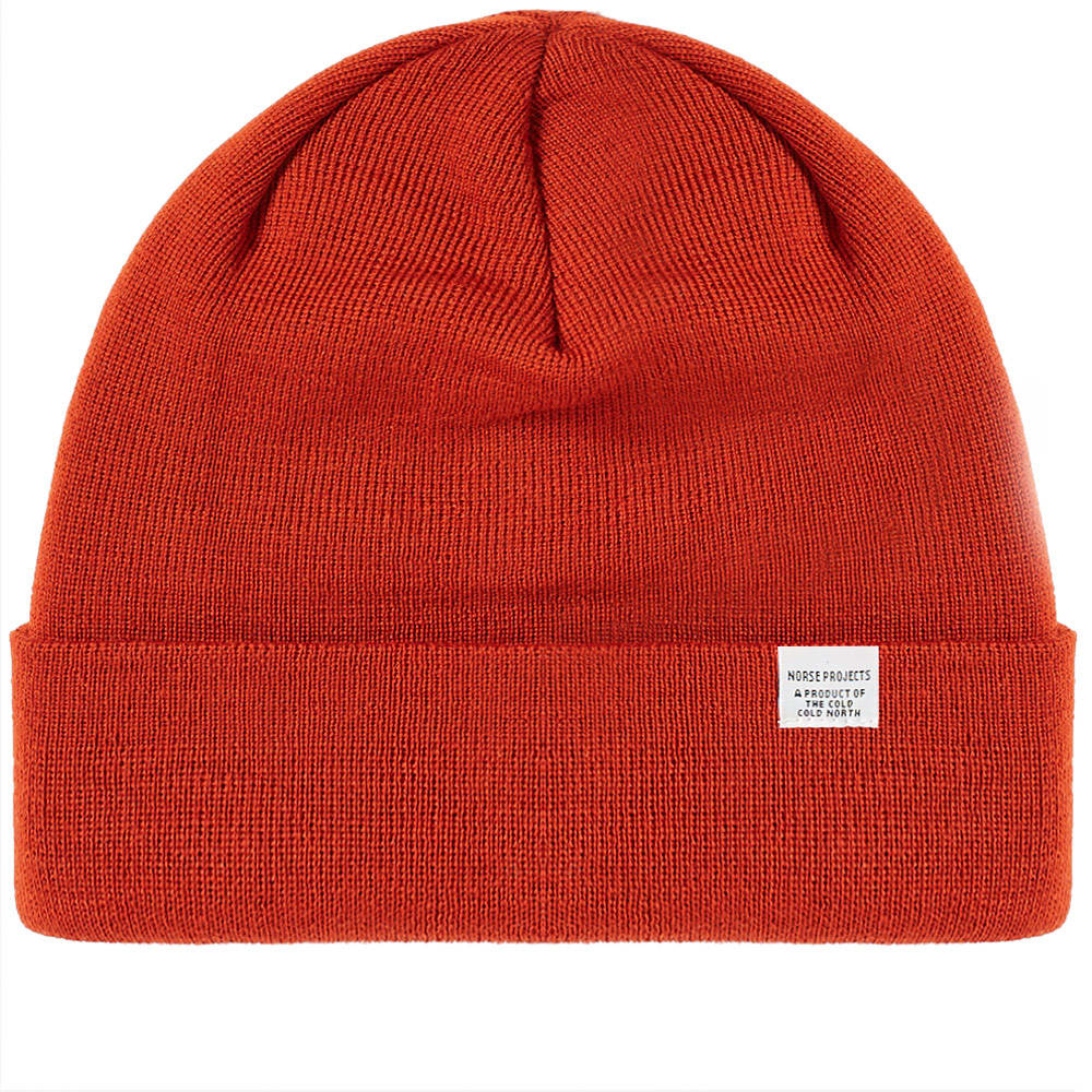 Norse Projects Oxide Orange Top Beanie