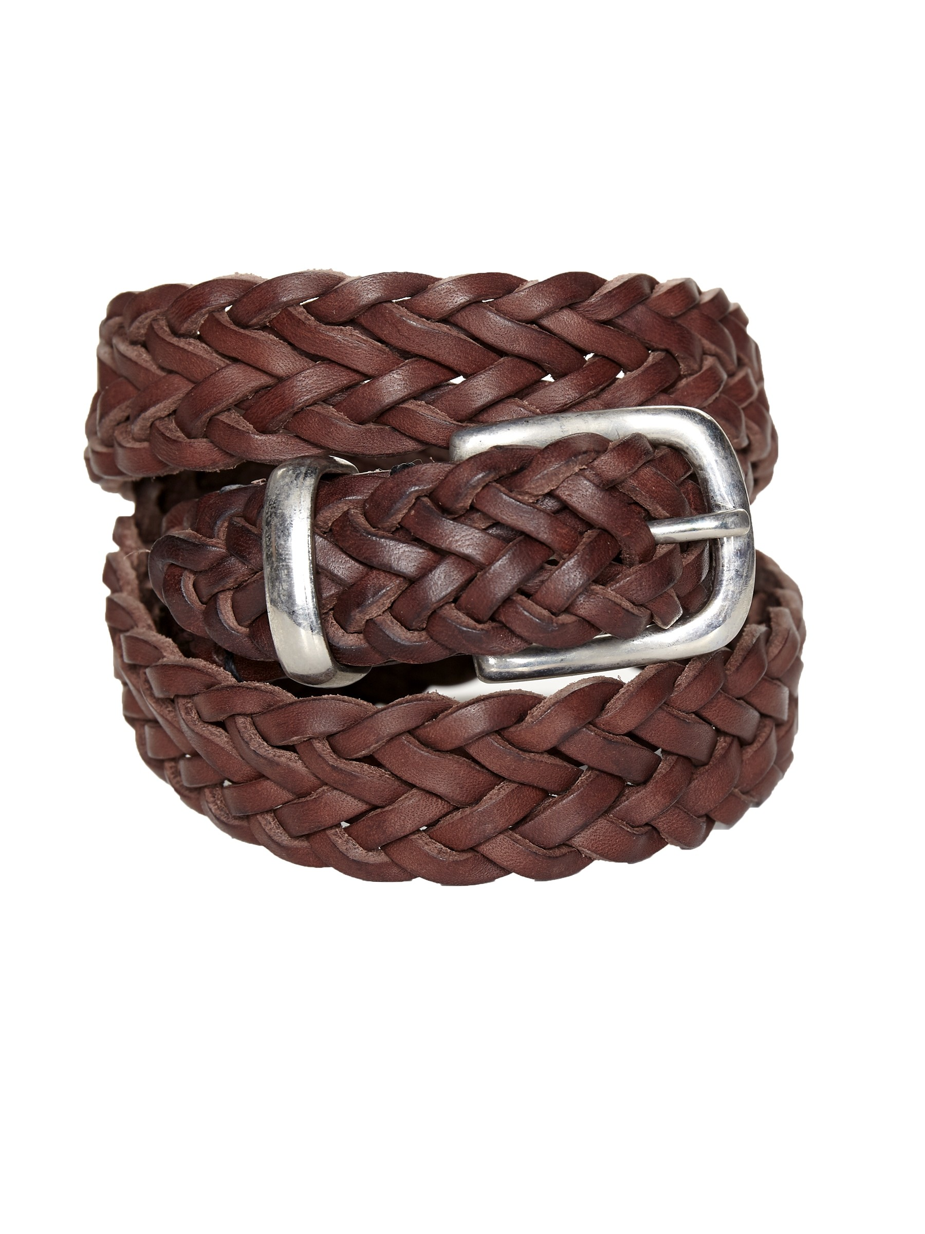 Oliver Spencer Braid Belt Leather Chocolate