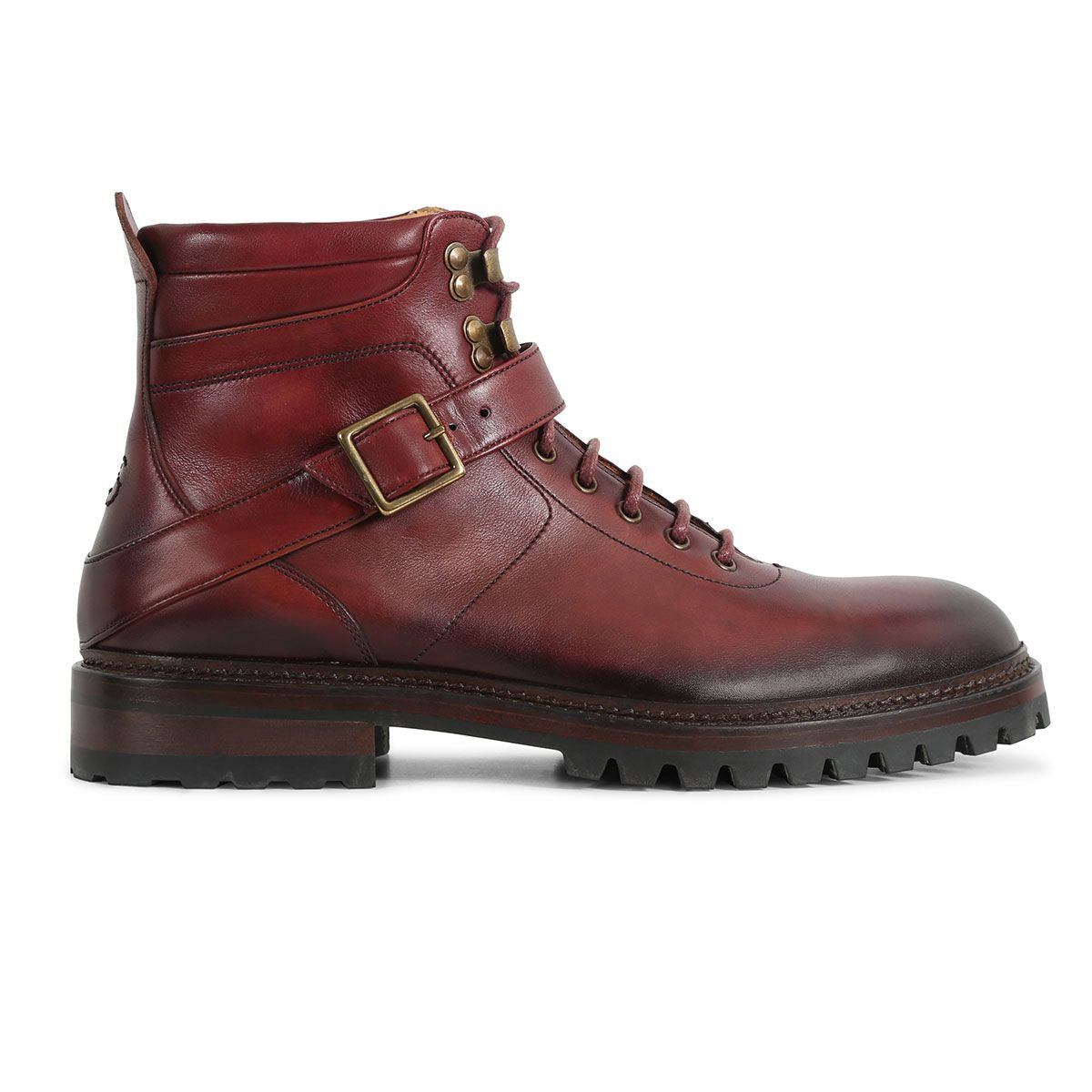 907e46c0ab1 Apricale Burgundy - Calf Leather Hiker Boot by Oliver Sweeney