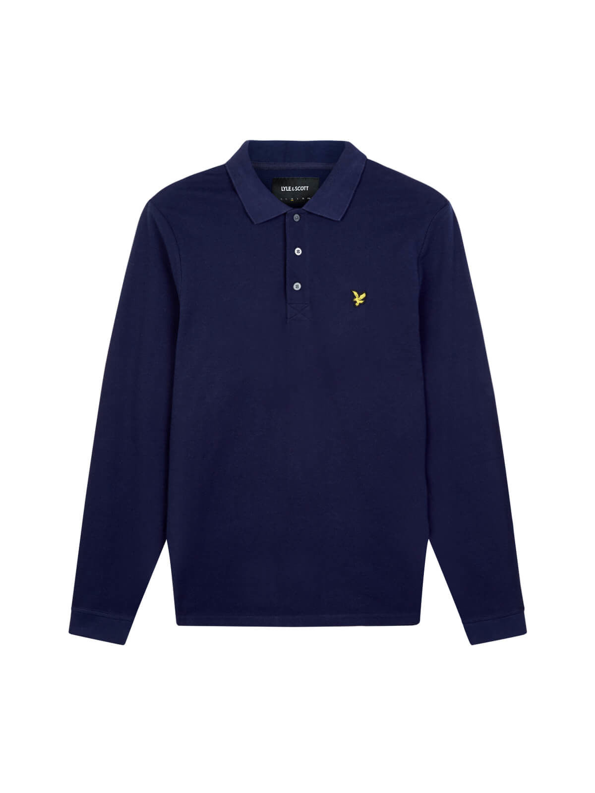 Lyle and Scott Navy Long Sleeve Polo Shirt