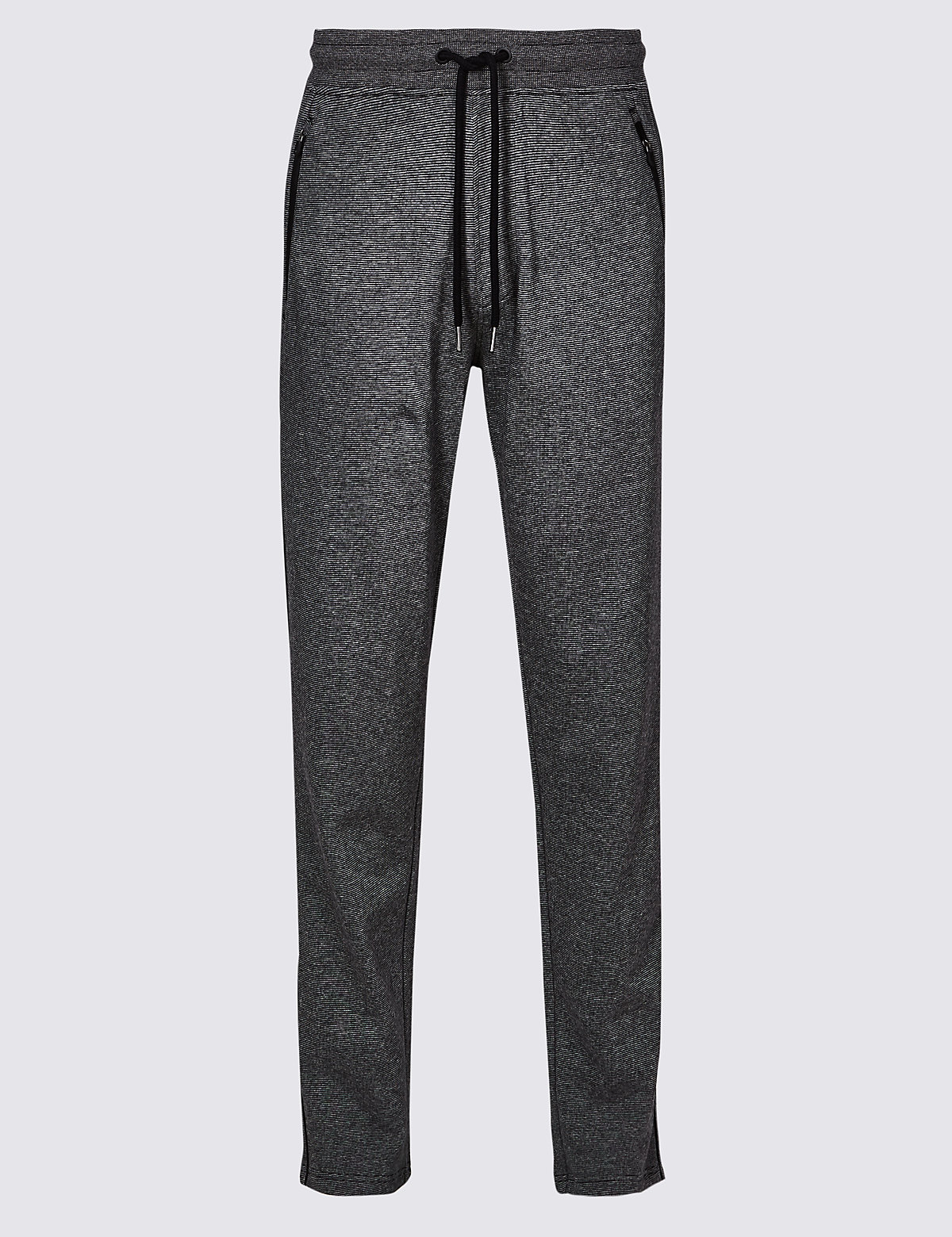 Marks & Spencer Grey Mix Pure Cotton Textured Joggers