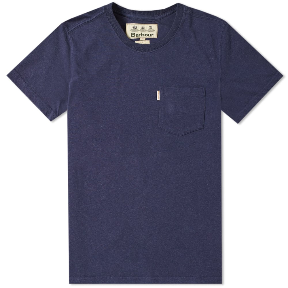 Barbour Navy Marl Hayeswater Heavyweight Pocket Tee - Japan Collection