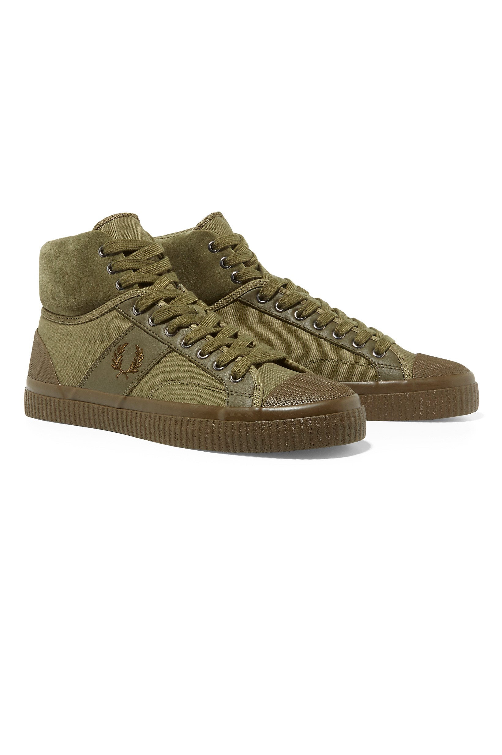 Fred Perry Burnt Olive Hughes Mid Waxed Canvas