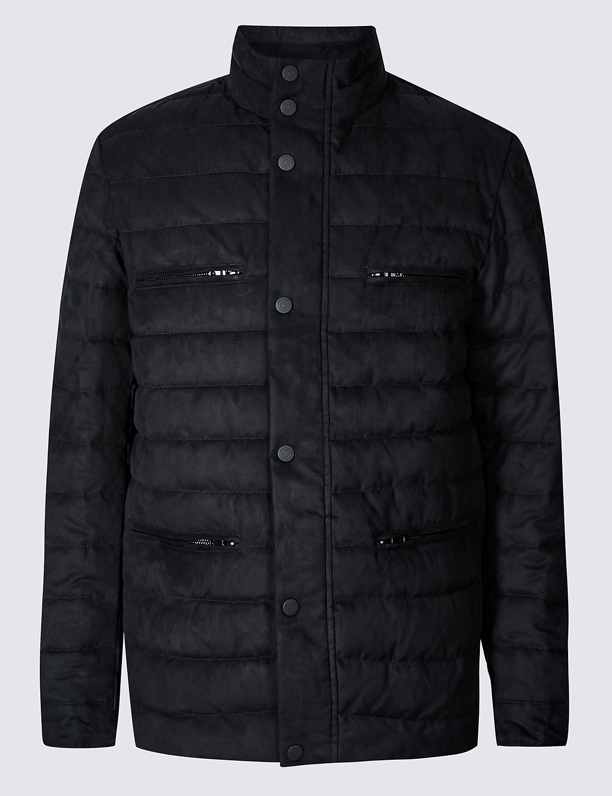 Marks & Spencer Navy Quilted Jacket with Stormwear™