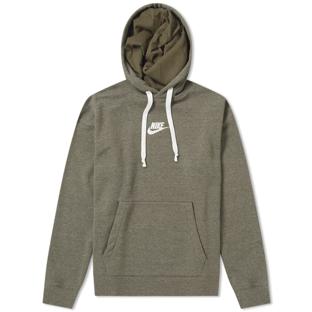 Nike Olive Heather & Sail Heritage Pullover Hoody