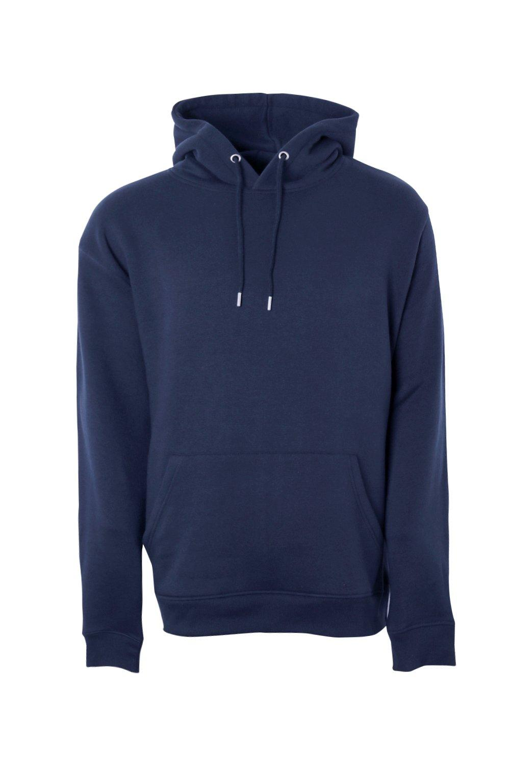 boohooMAN navy Big And Tall Basic Over The Head Hoodie
