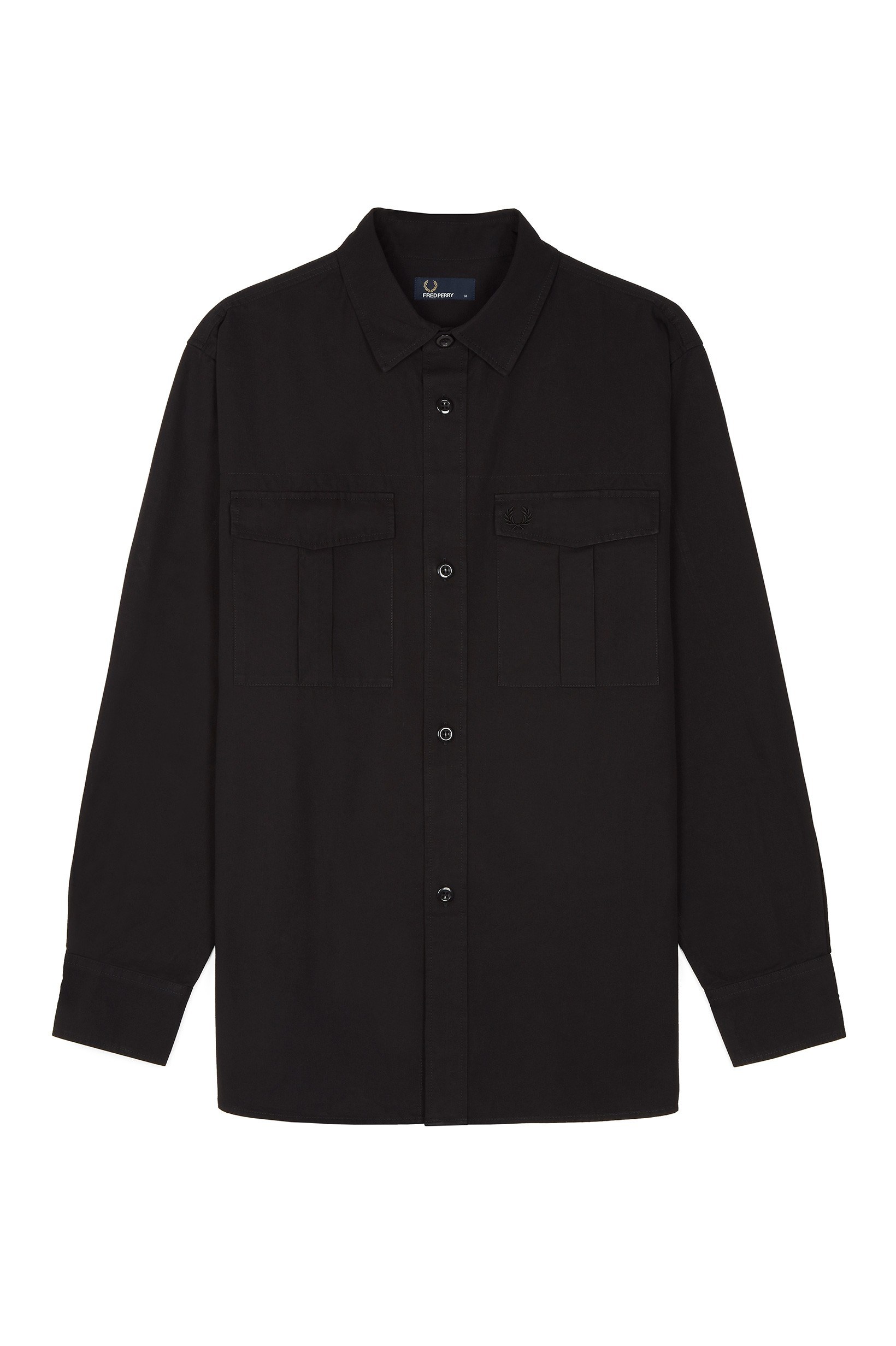 Fred Perry Black Utility Overshirt