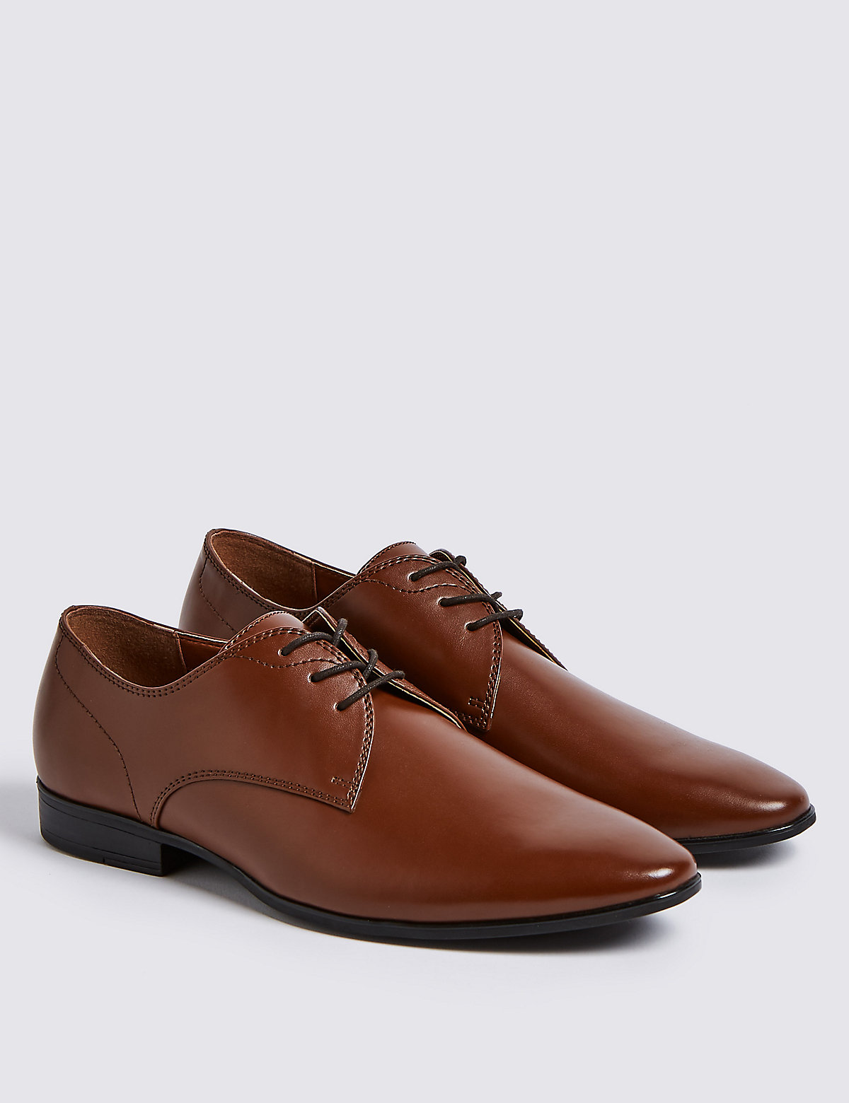 Marks & Spencer Brown Lace-up Derby Shoes