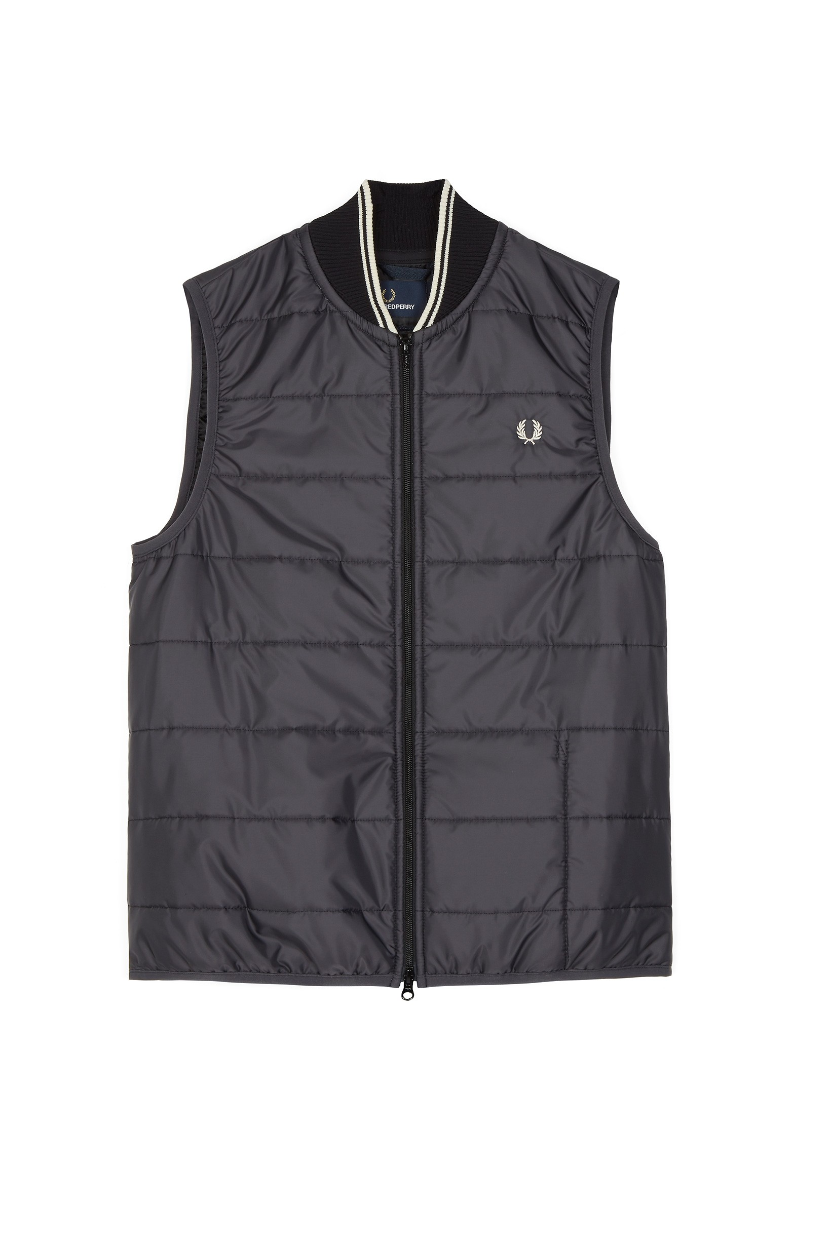 Fred Perry Black Lavenham Quilted Gilet
