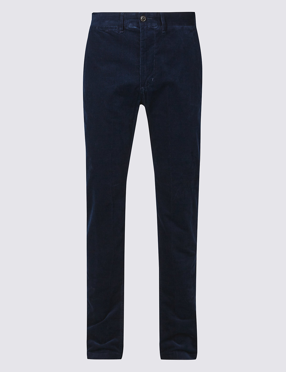 Marks & Spencer Navy Straight Fit Corduroy with Stretch