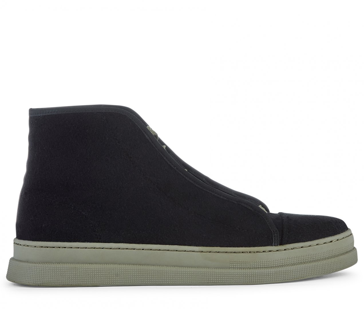 Hudson Shoes Berwick Felt Black Sneaker
