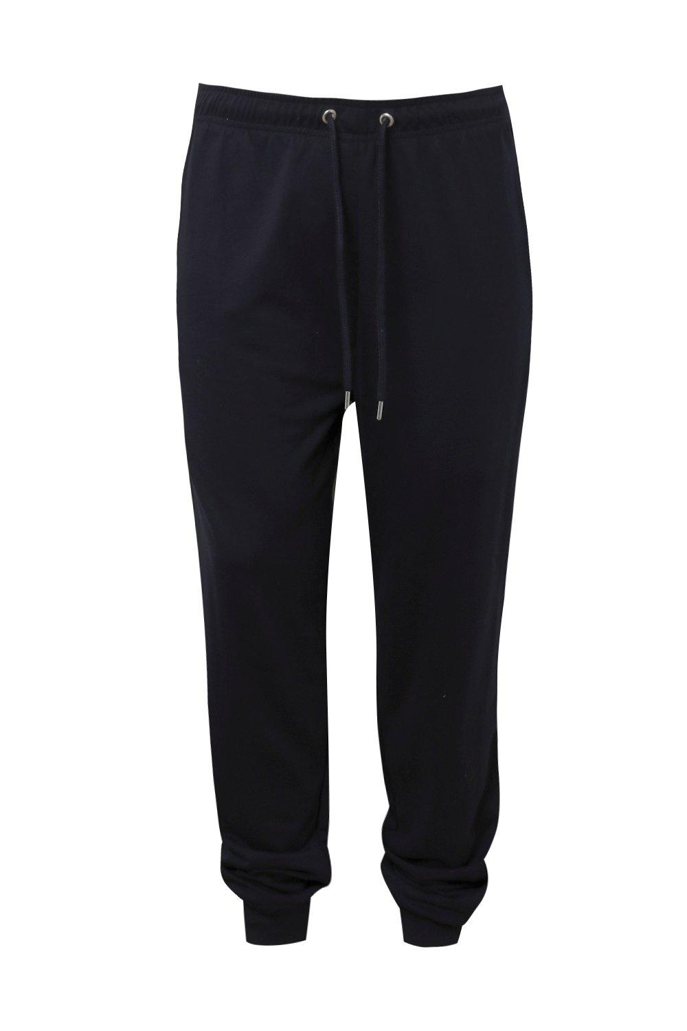 boohooMAN navy Big And Tall MAN Joggers