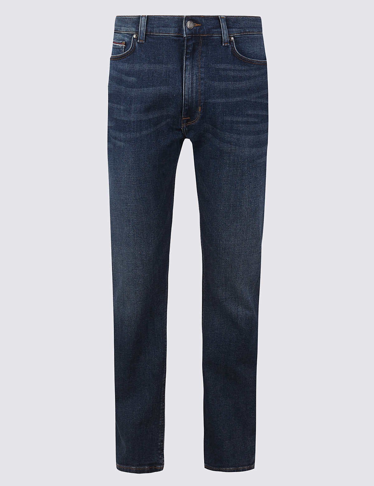 Marks & Spencer Indigo Straight Fit Stretch Jeans