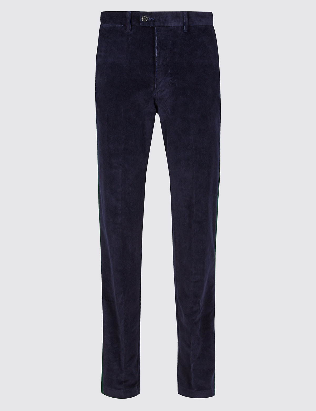 Marks & Spencer Navy Big & Tall Regular Fit Corduroy Trousers
