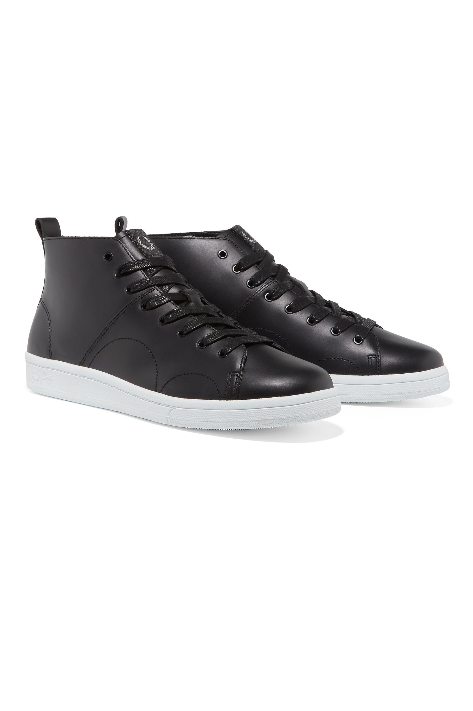 Fred Perry Black X George Cox Monkey Boot Leather