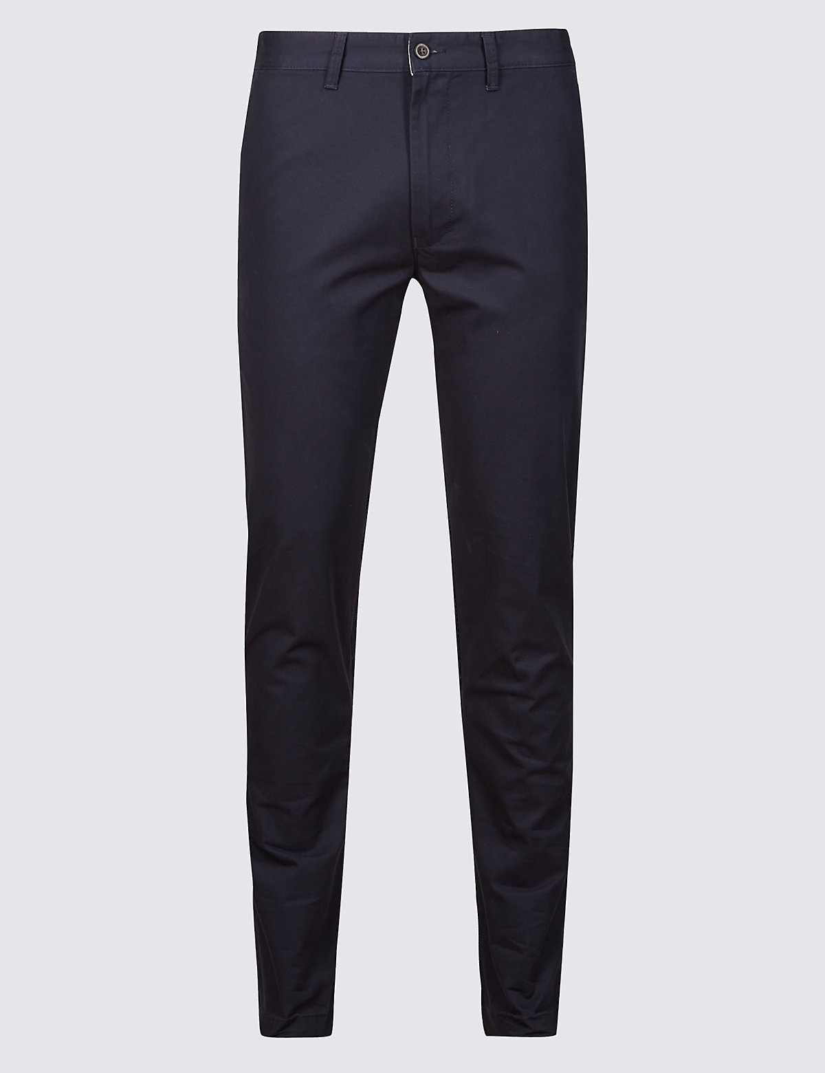 Marks & Spencer Navy Skinny Fit Pure Cotton Chinos