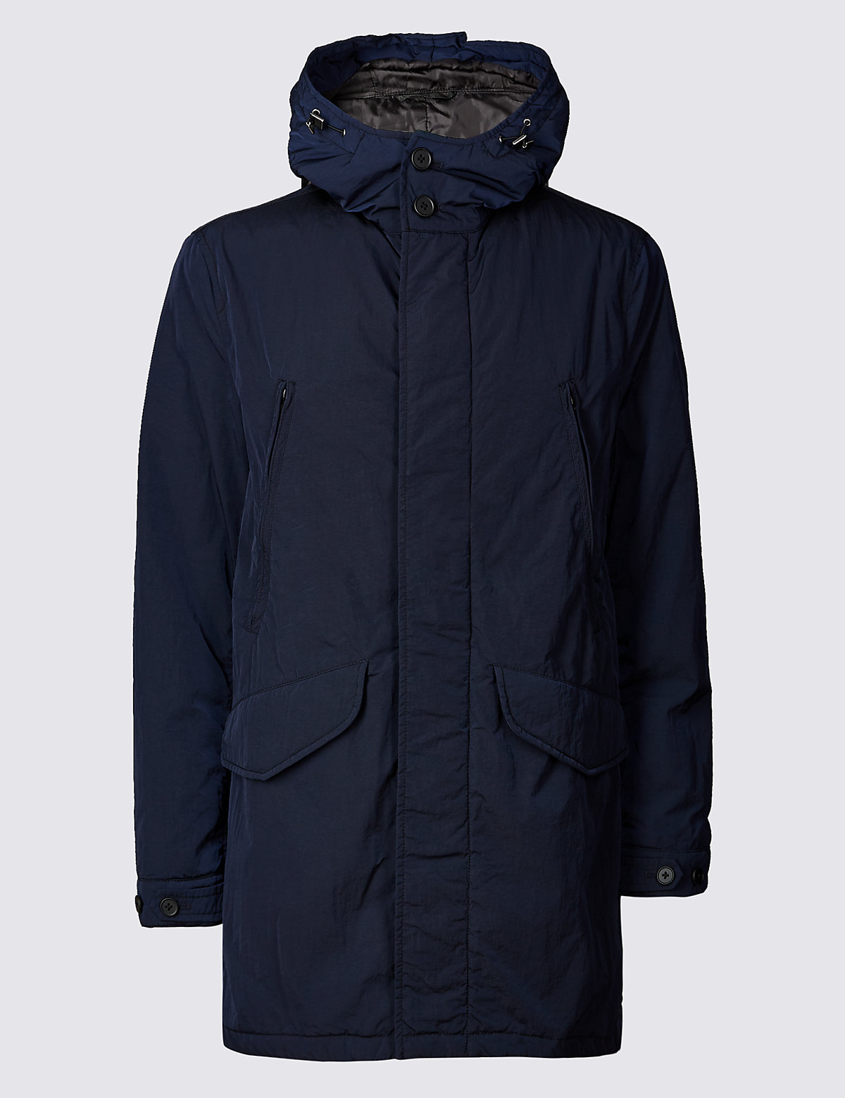 Marks & Spencer Navy Modern Parka with Stormwear™