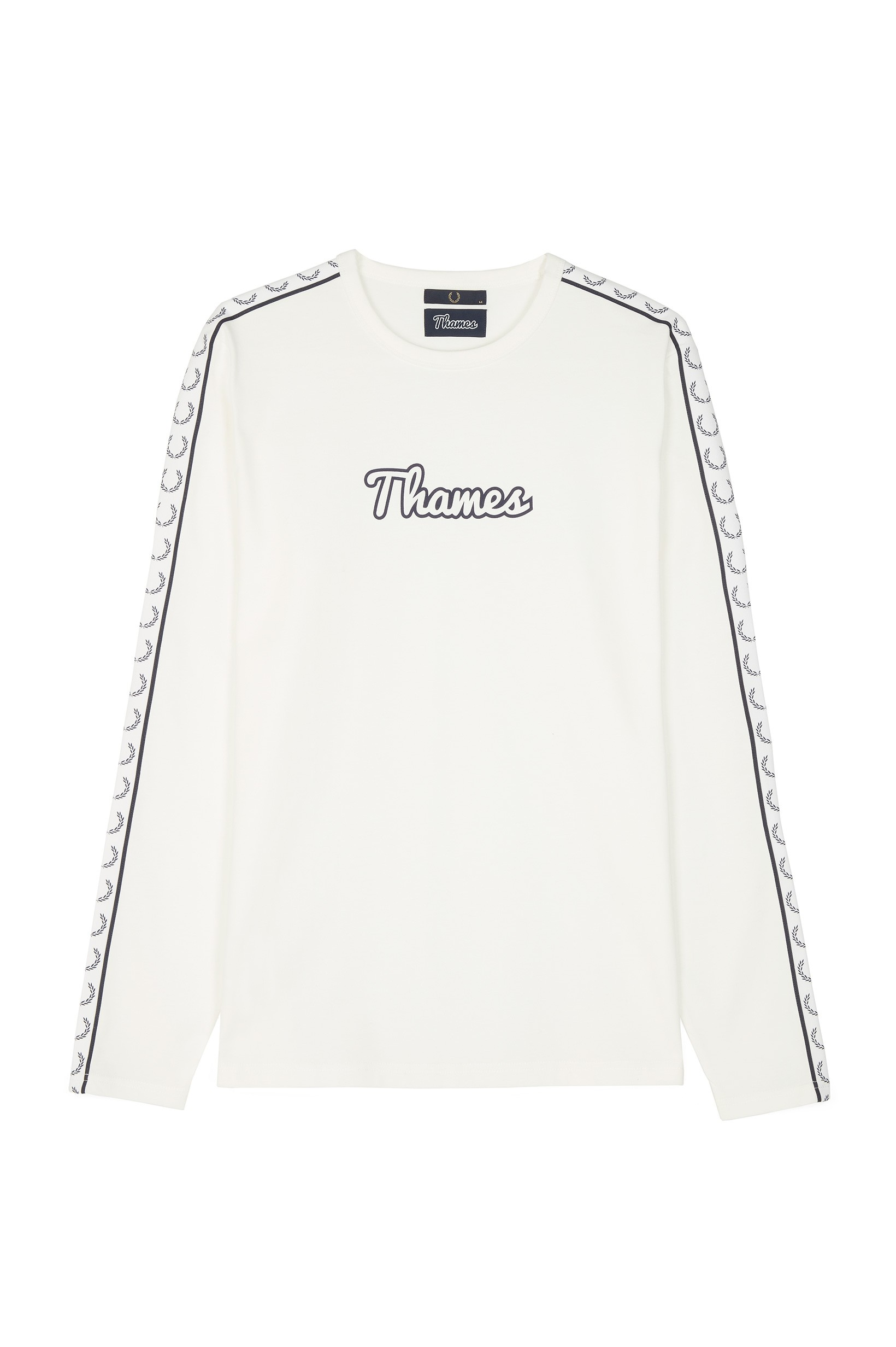Fred Perry Snow White Thames Long Sleeve Ringer T-Shirt