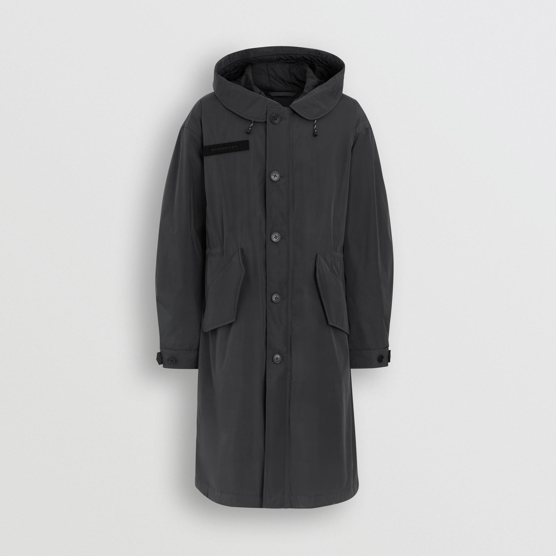 Burberry Dark Charcoal Quilt-lined Technical Nylon Parka