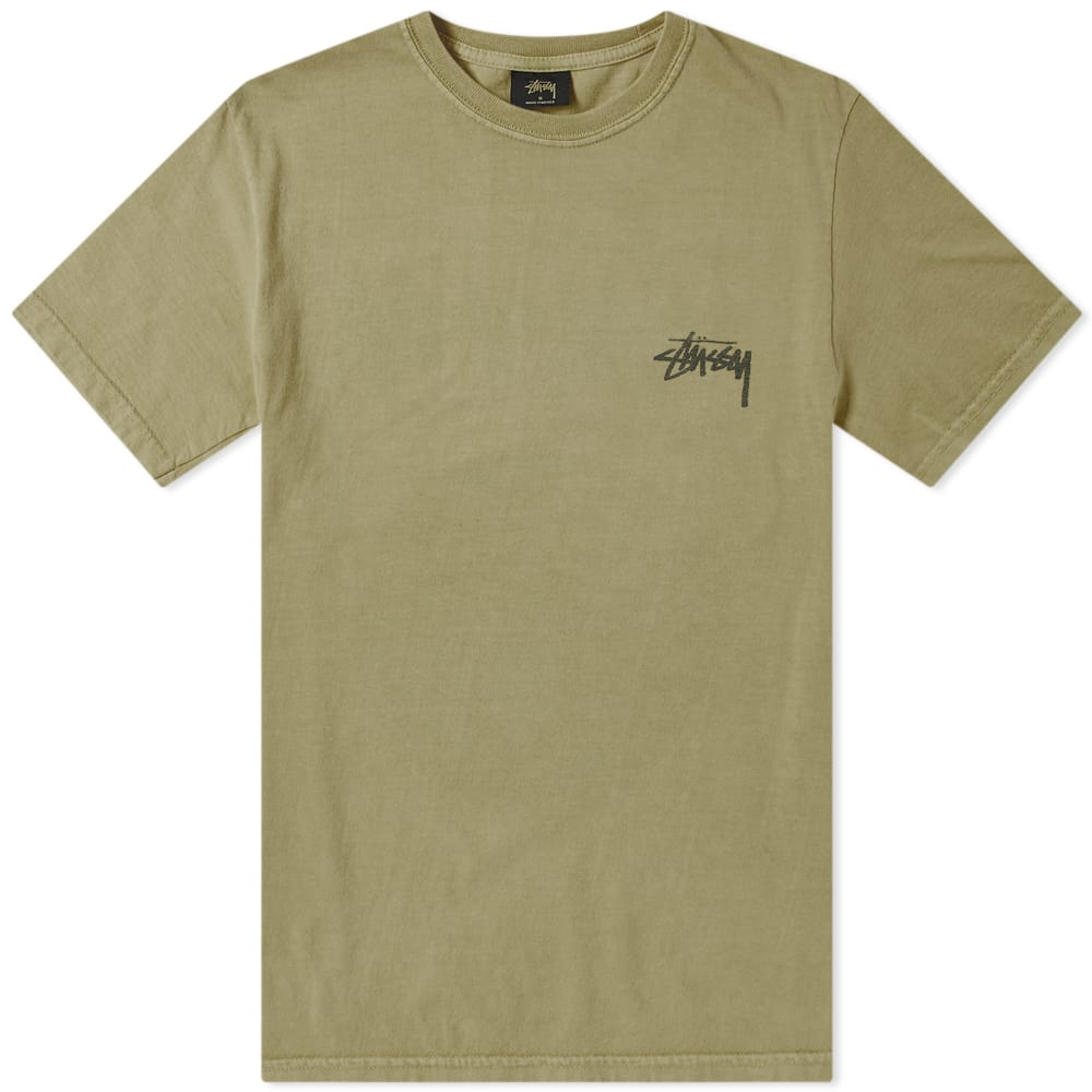 Stussy Army 8 Ball Pigment Dyed Tee