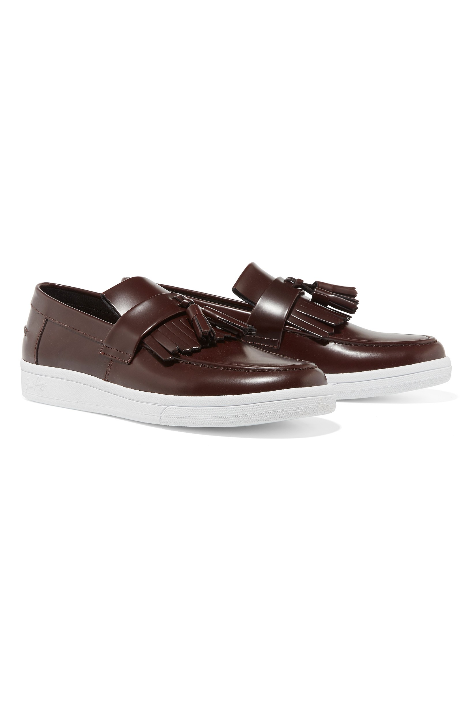 Fred Perry Ox Blood X George Cox B721 Loafer Leather