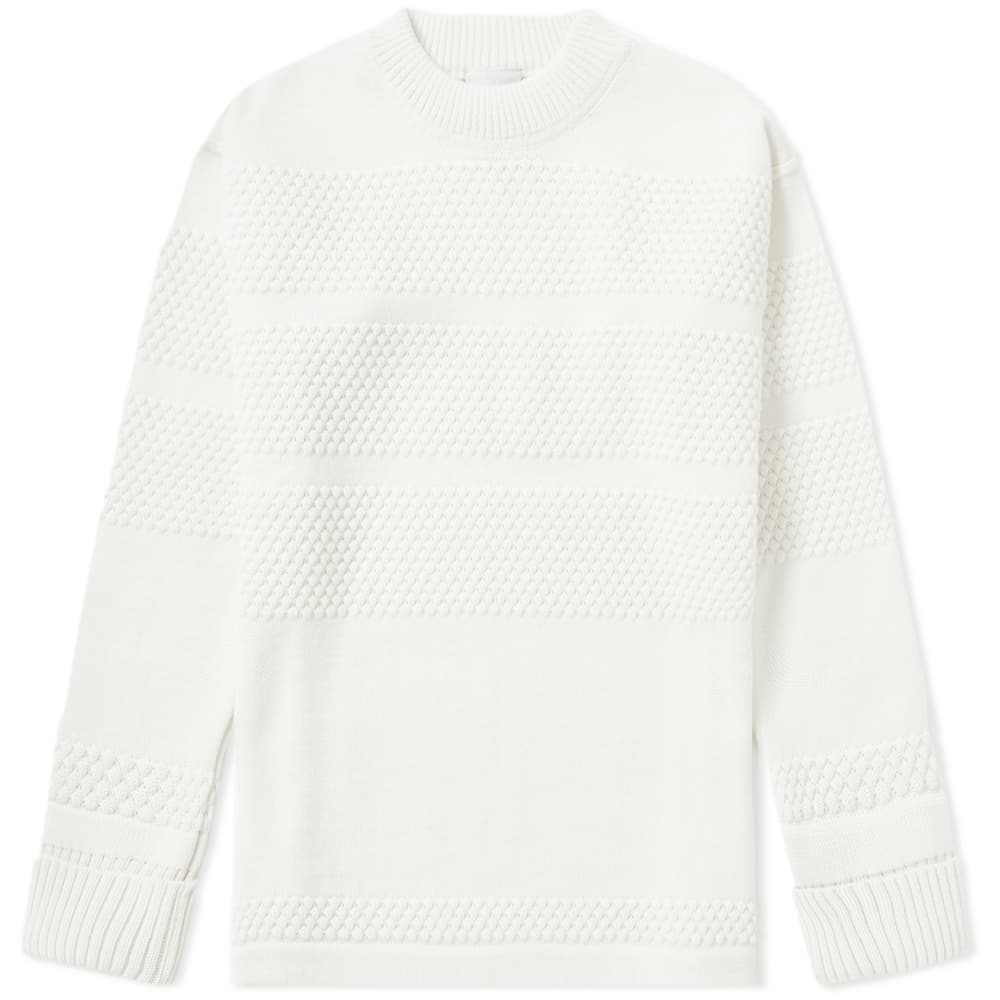 SNS Herning White Open Fisherman Crew Sweat
