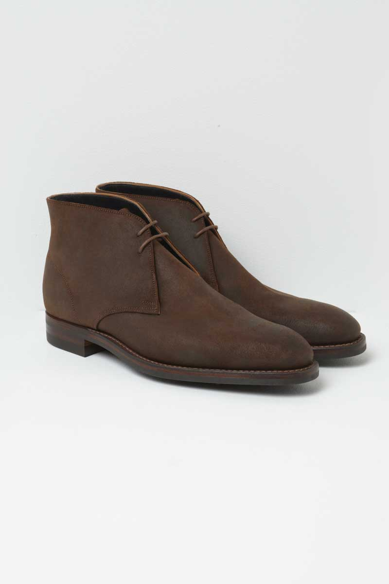 Richard James Chocolate Boots Rough-out Suede Chukka
