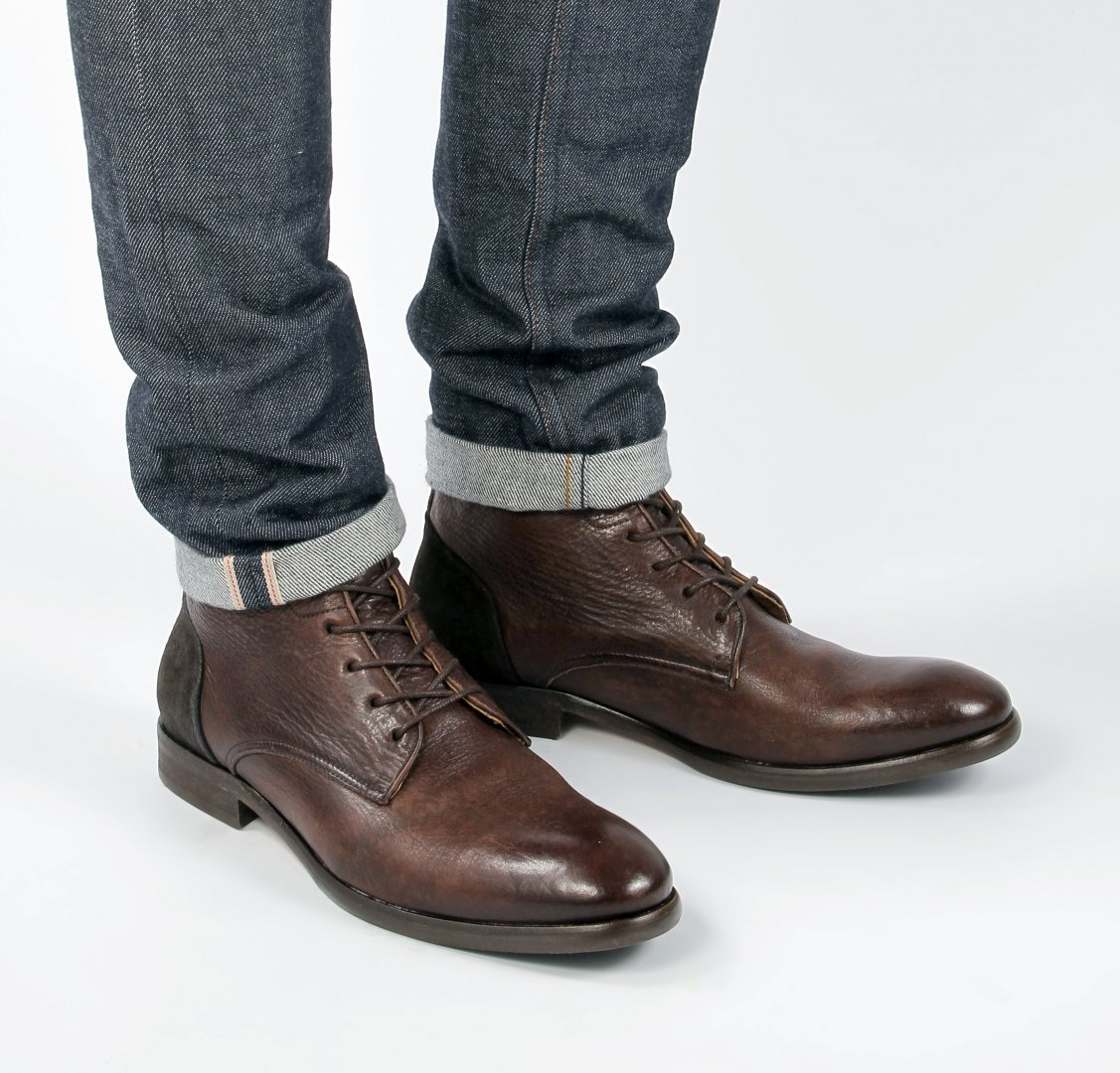 Hudson Shoes Brown Leather Yoakley Brown Boot