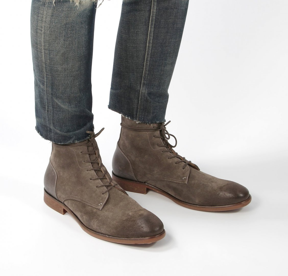 Yoakley Suede Stone Boot by Hudson