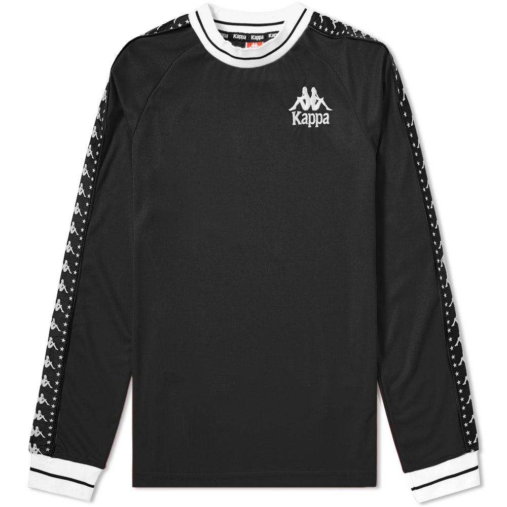 Kappa Black & White Long Sleeve Authentic Star Aneat Tee