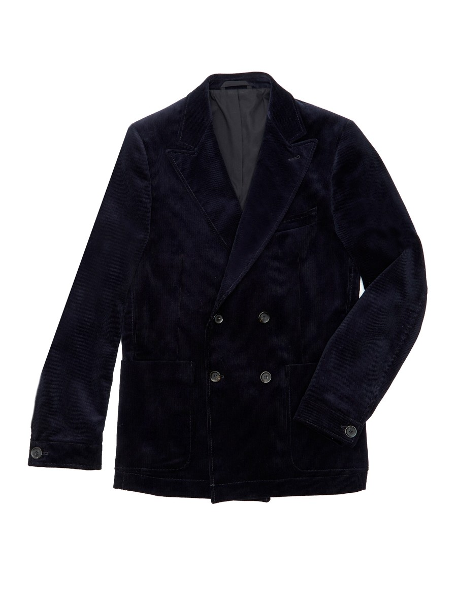 Oliver Spencer Double Breasted Jacket Cord Navy
