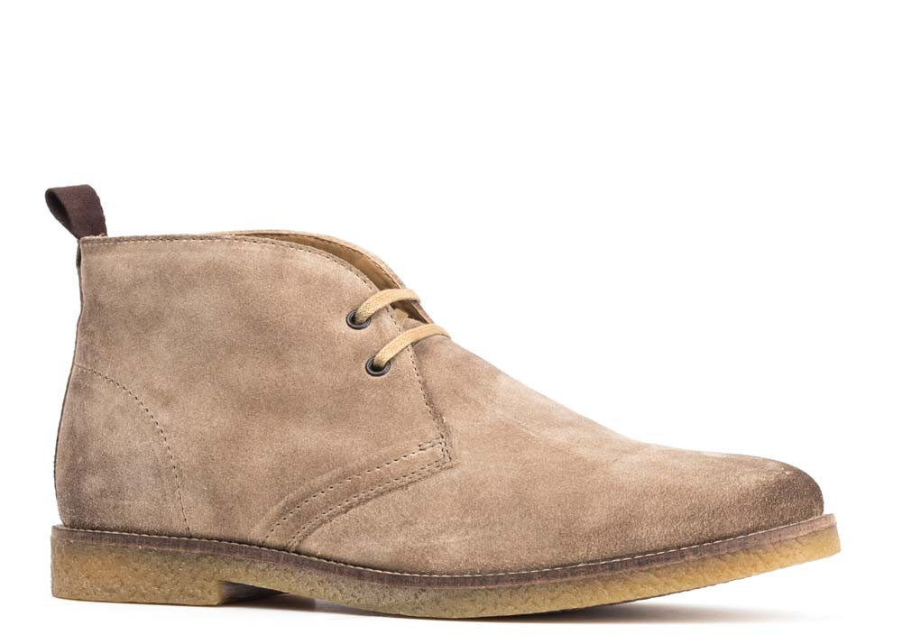 Base London Taupe Perry Burnished Suede