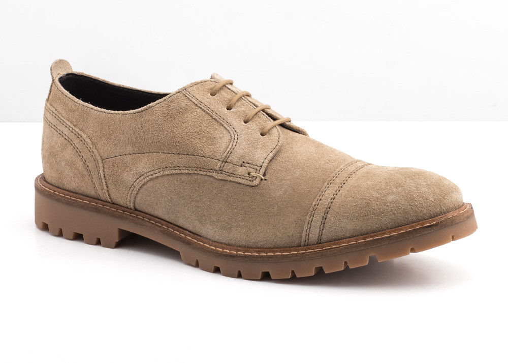 Base London Taupe Pike Burnish Suede