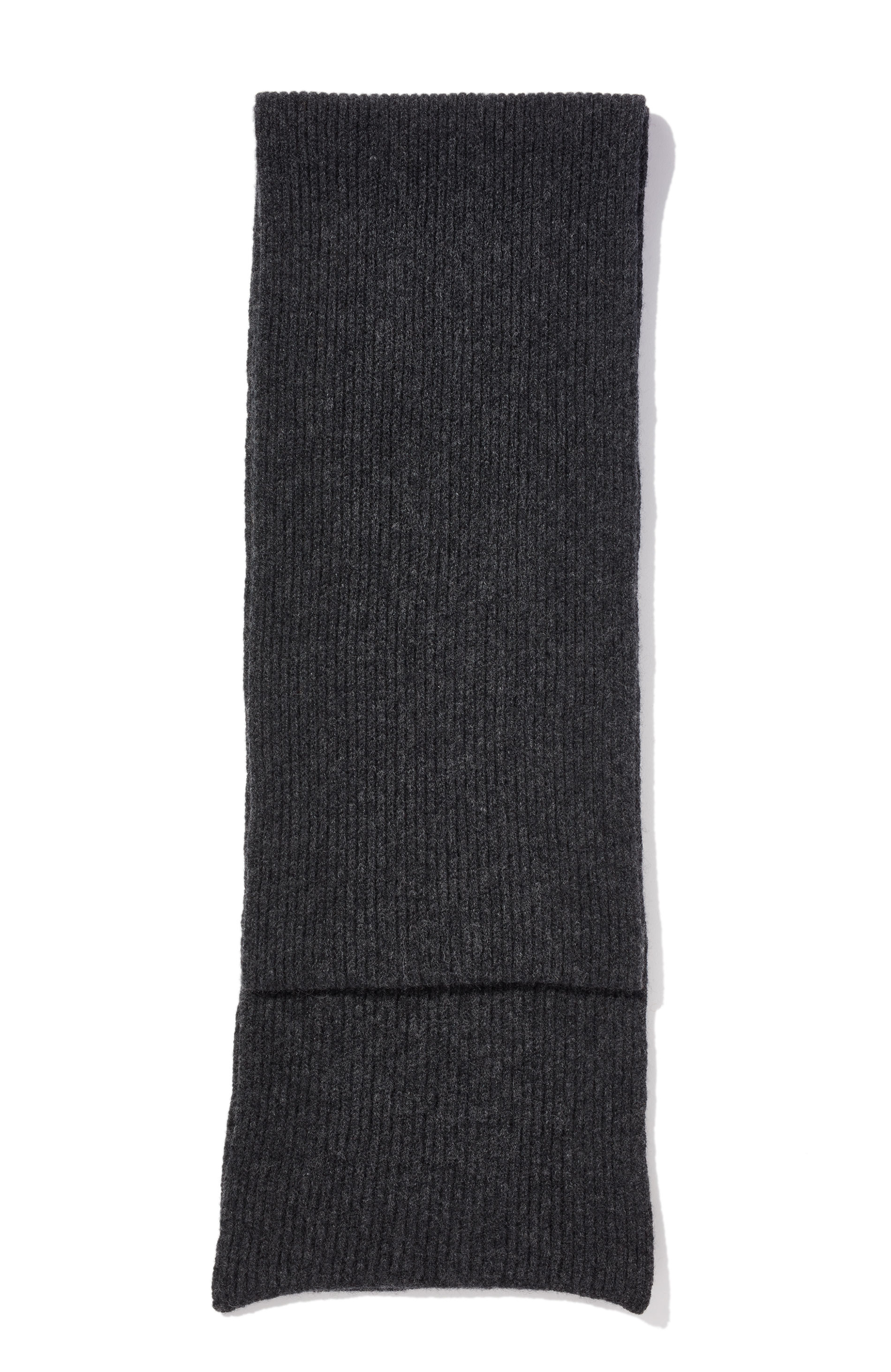 YMC Royal Rib Scarf (charcoal)