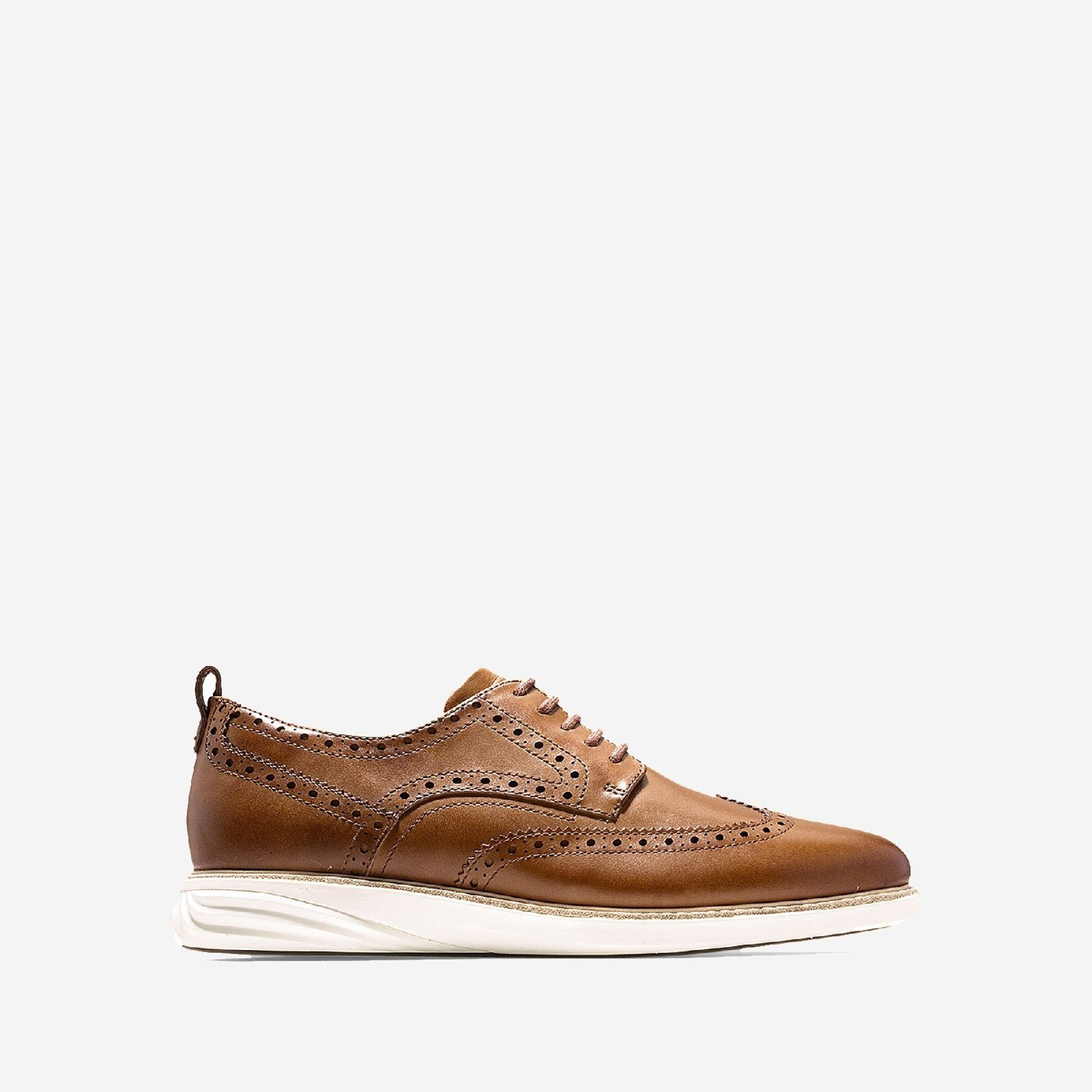 Cole Haan Tan/Ivory Grandevolution Shortwing Oxford Shoe