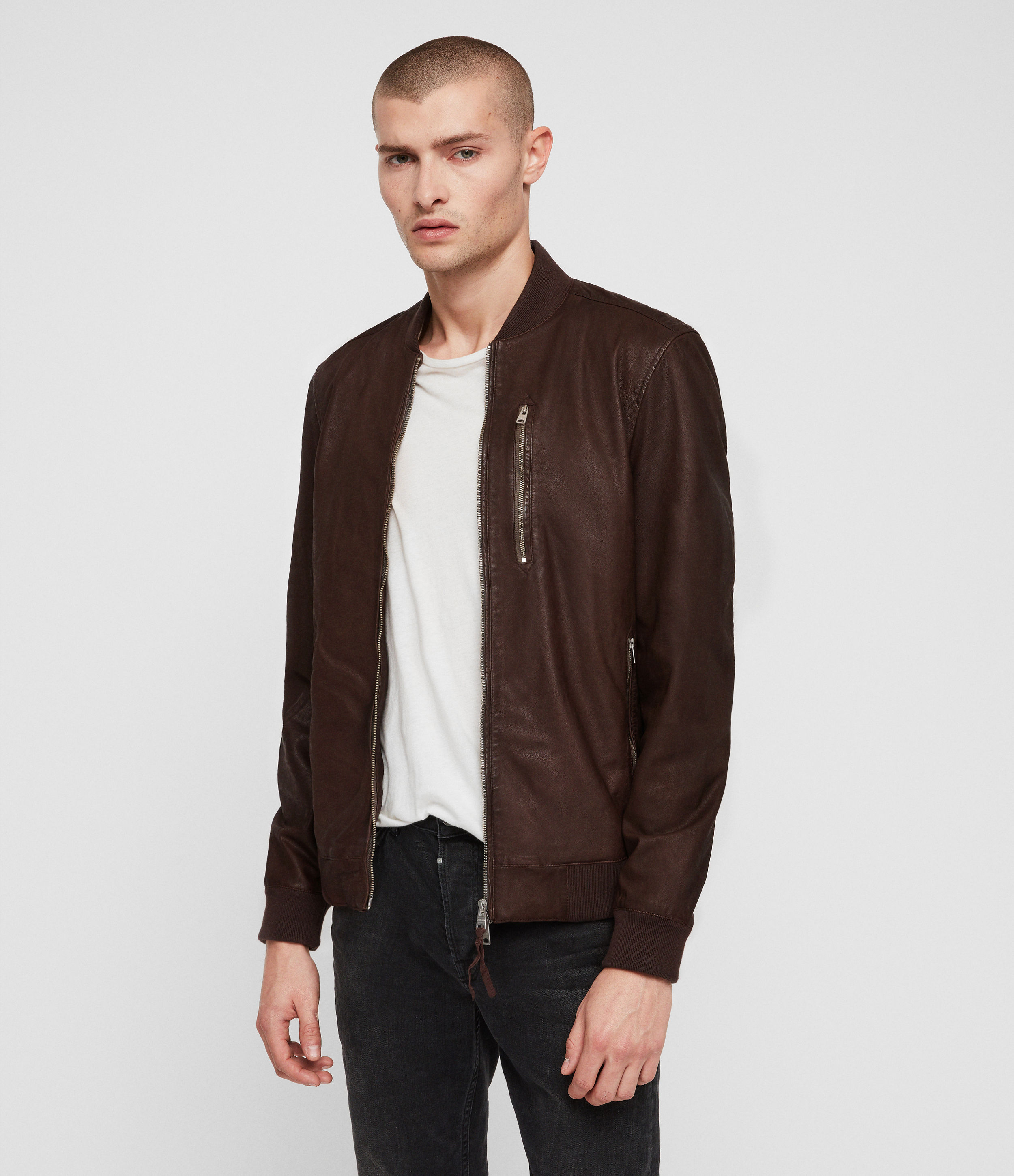 Kino Leather Bomber Jacket by AllSaints
