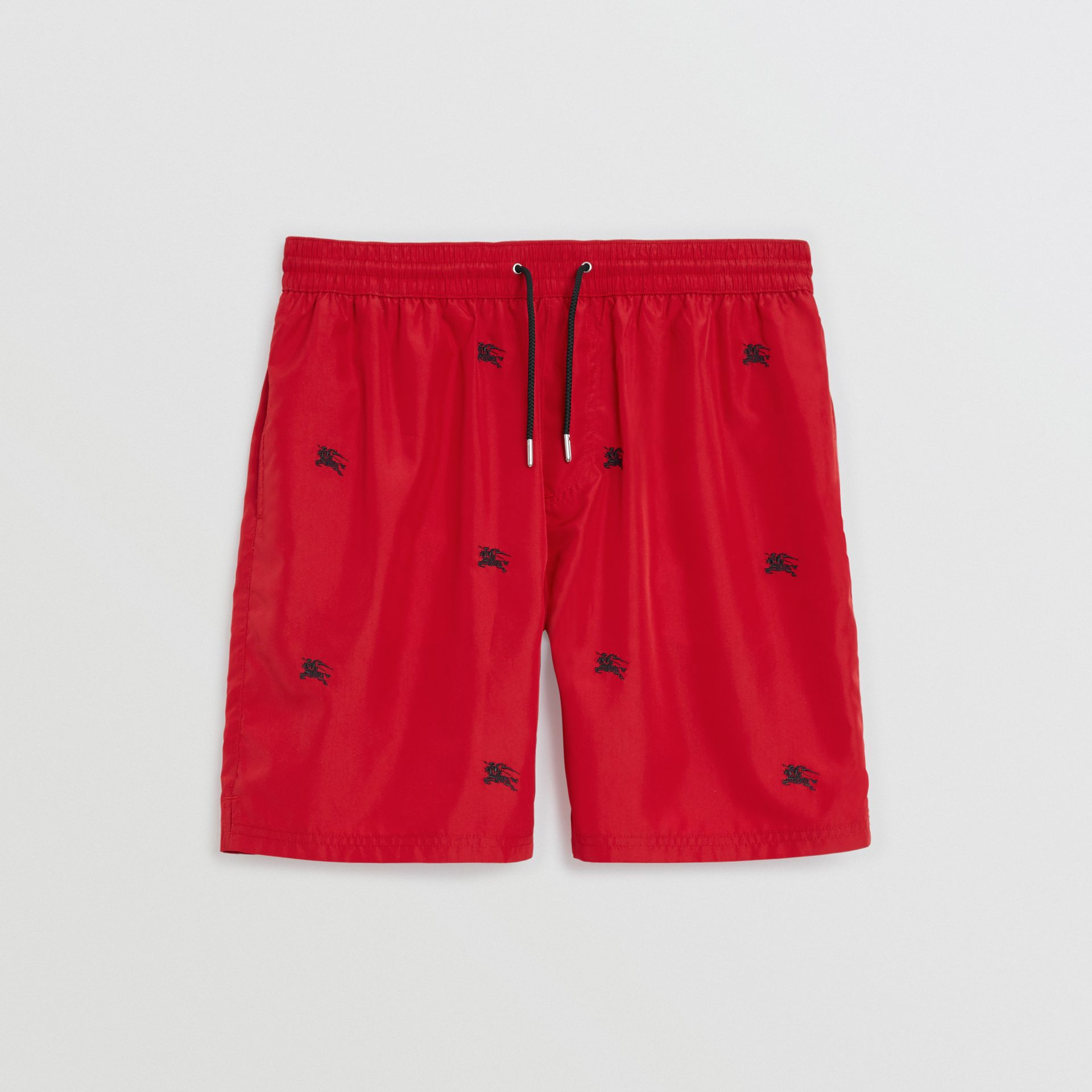 Burberry Parade Red Archive Logo Drawcord Swim Shorts