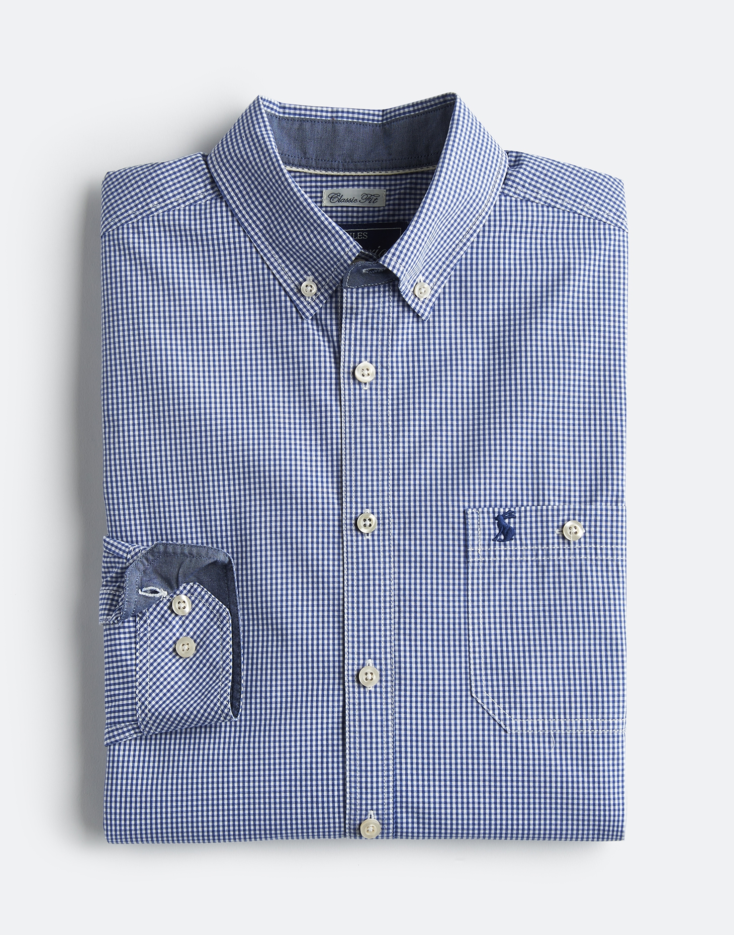 Joules BLUE GINGHAM HEWNEY CLASSIC FIT Checked Shirt