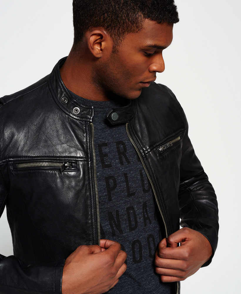 272ce6f8b Real Hero Leather Jacket by Superdry