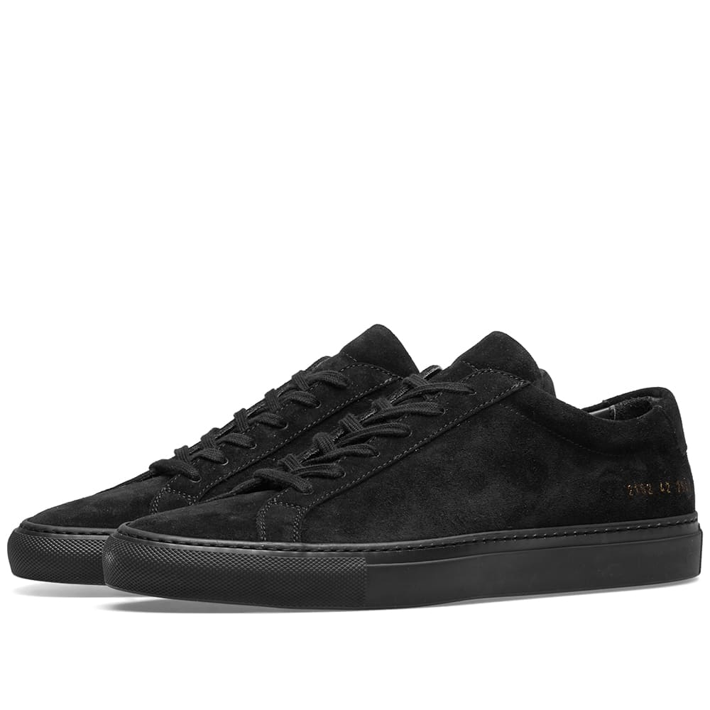 Common Projects Black Original Achilles Low Suede
