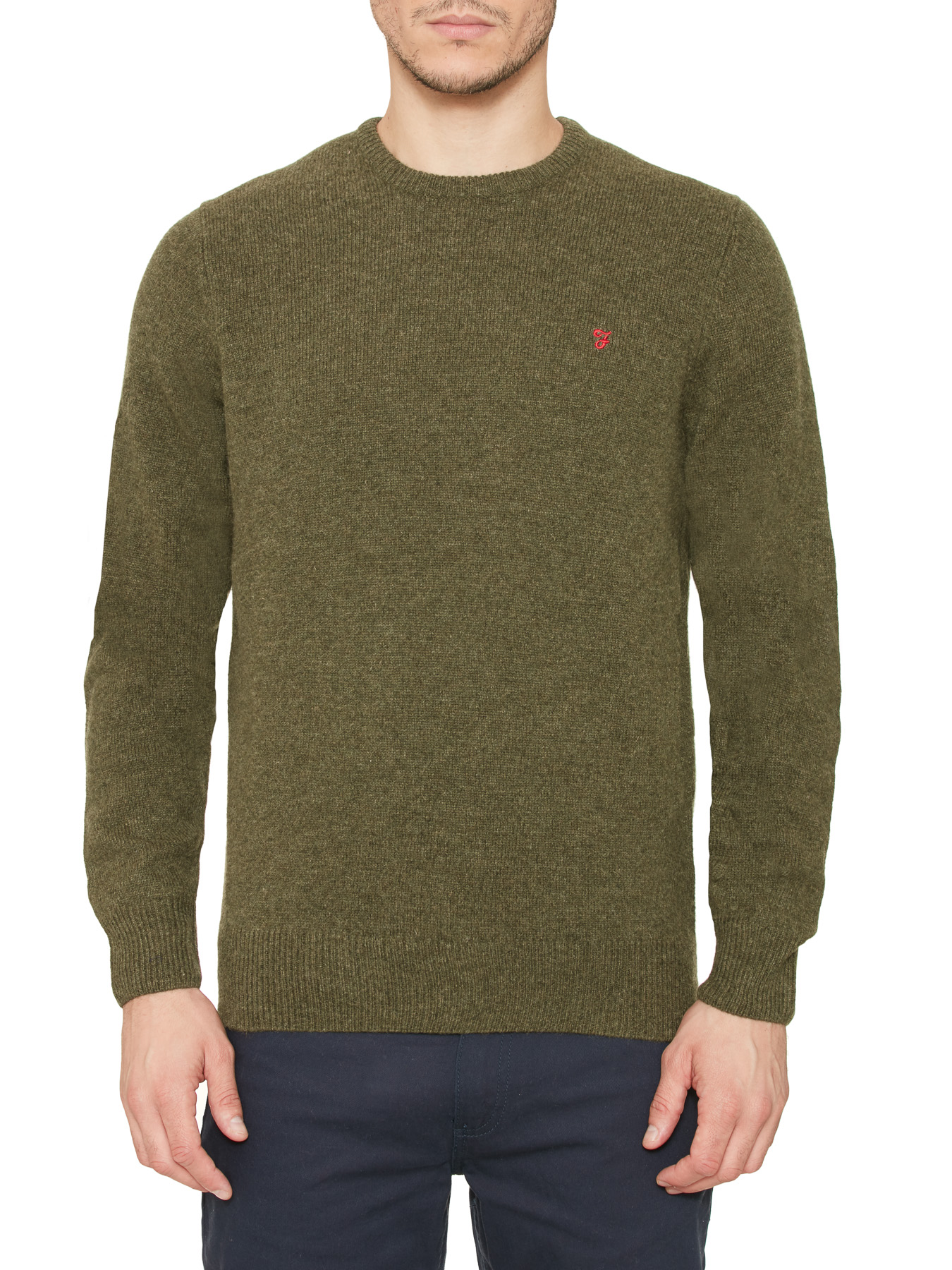 Farah Vintage Evergreen Lowther lambswool crew neck jumper